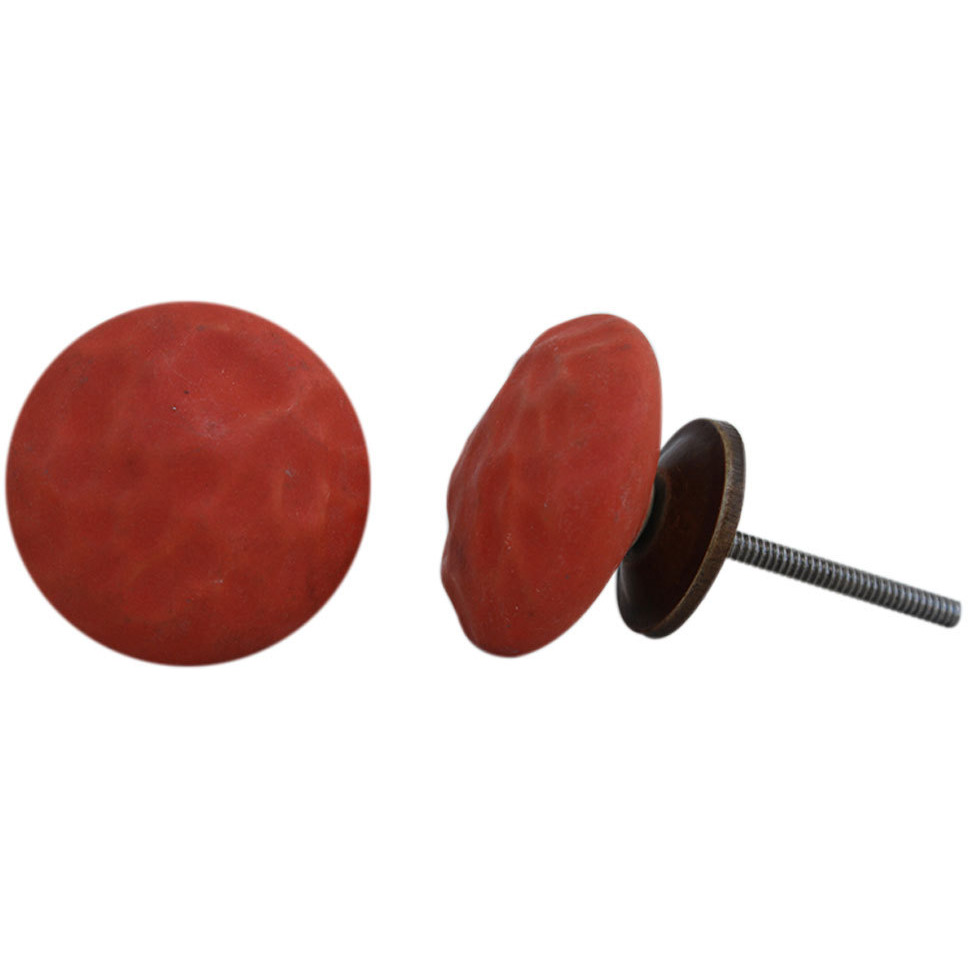 IndianShelf Handmade 20 Piece Ceramic Red Solid Artistic Drawer Knobs/Cabinet Pulls