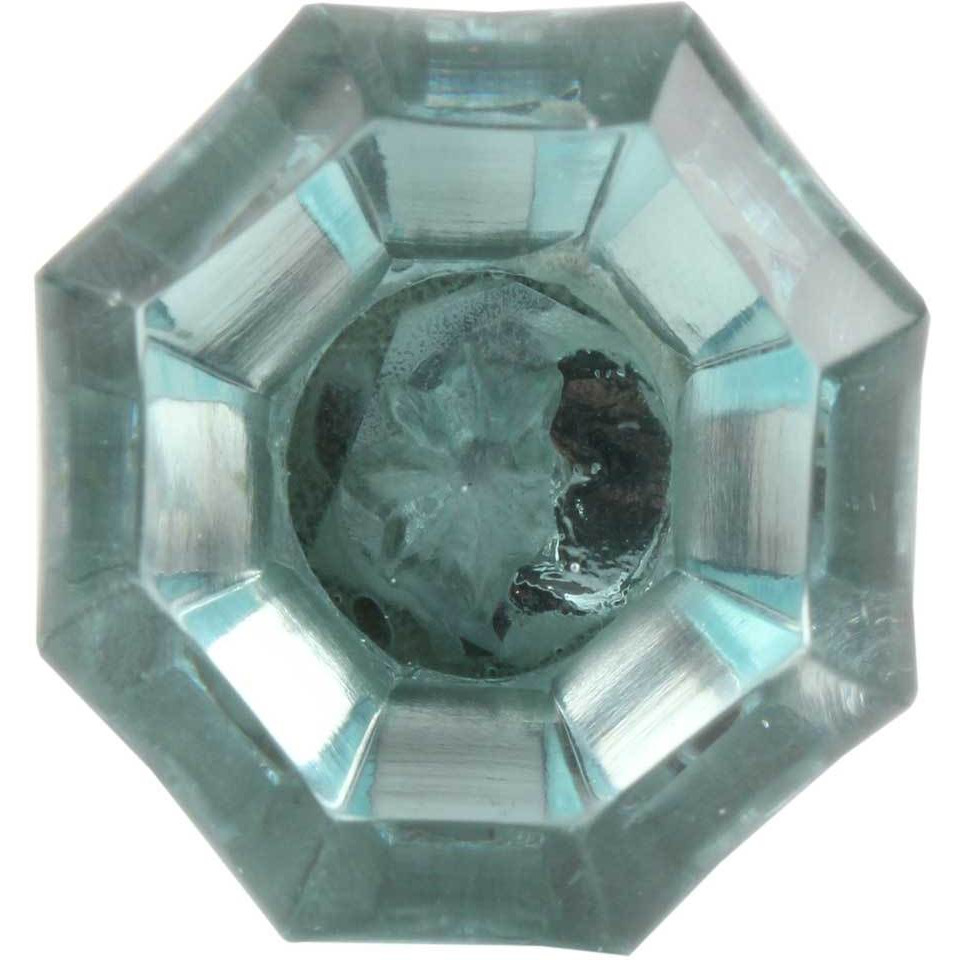 IndianShelf Handmade 20 Piece Glass Turquoise Octagon Shape Diamond Artistic Drawer Knobs/Cabinet Pulls