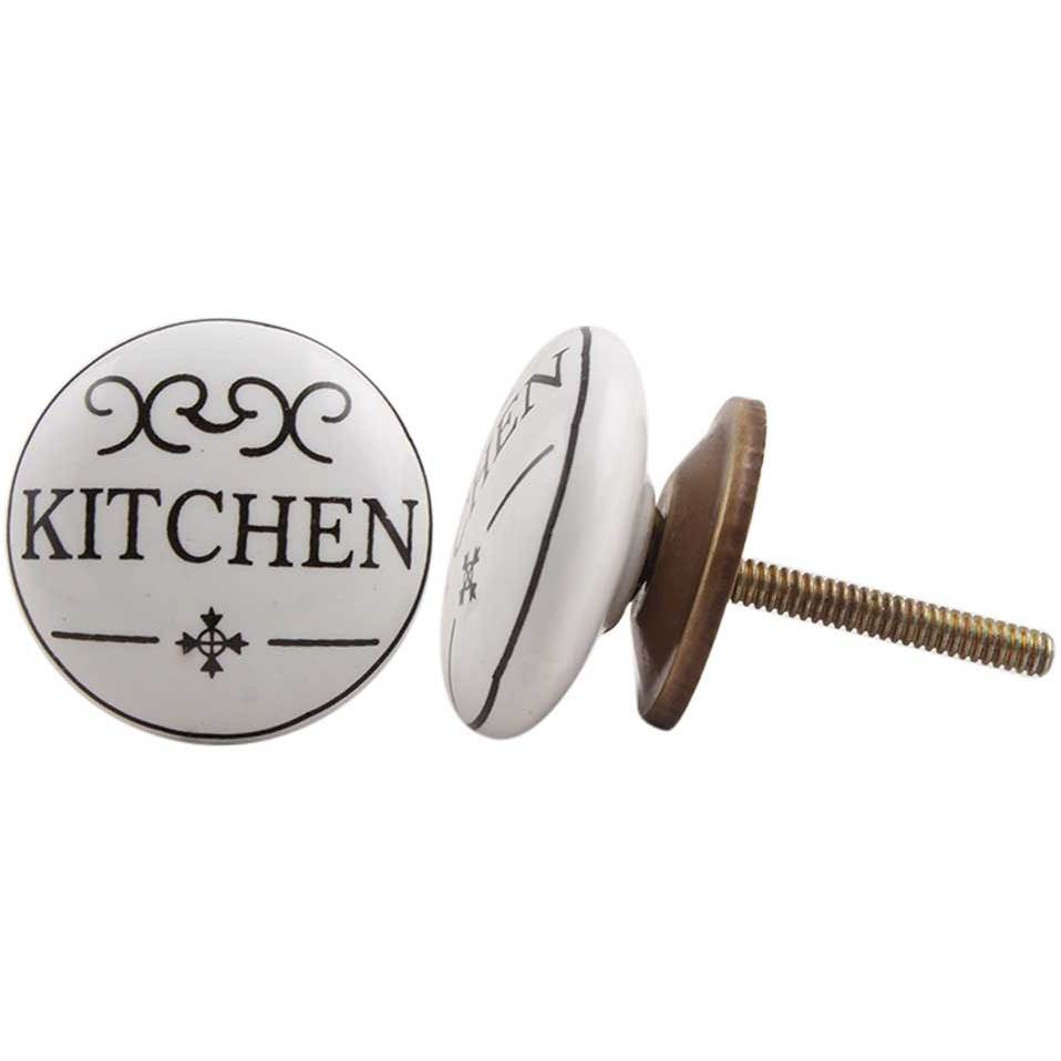 IndianShelf Handmade 13 Piece Ceramic Black Kitchen Kid Flat Rust Free Drawer Kitchen Knobs/Cabinet Pulls