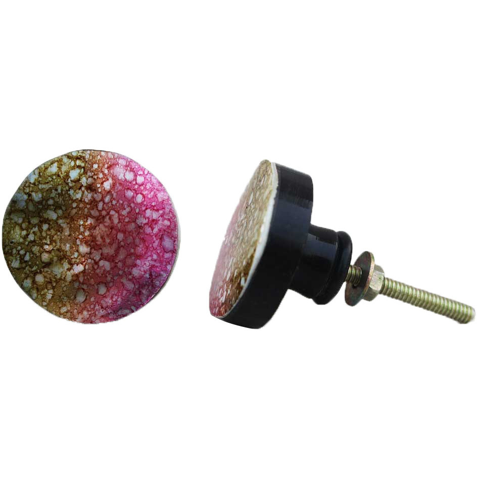 IndianShelf Handmade 17 Piece Resin Multicolor Bubble Rust Free Drawer Kitchen Knobs/Cabinet Pulls
