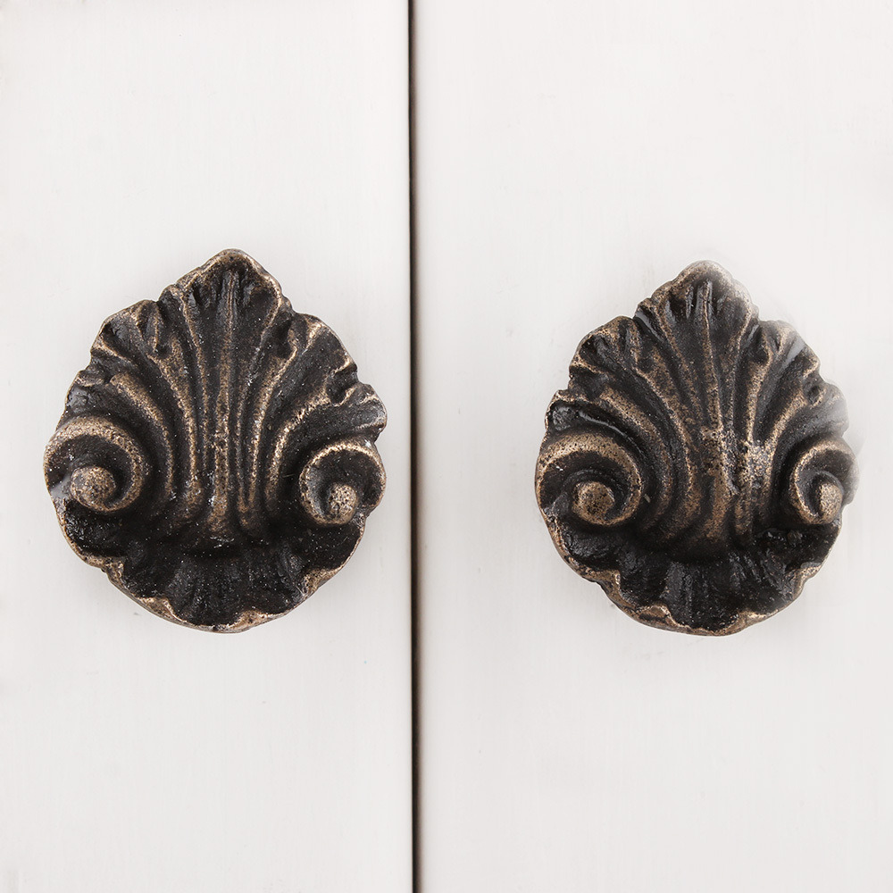 IndianShelf Handmade 17 Piece Iron Antique Floral Rust Free Drawer Kitchen Knobs/Cabinet Pulls