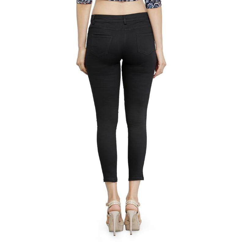 Black Jeggings with Side and Back Pockets-32
