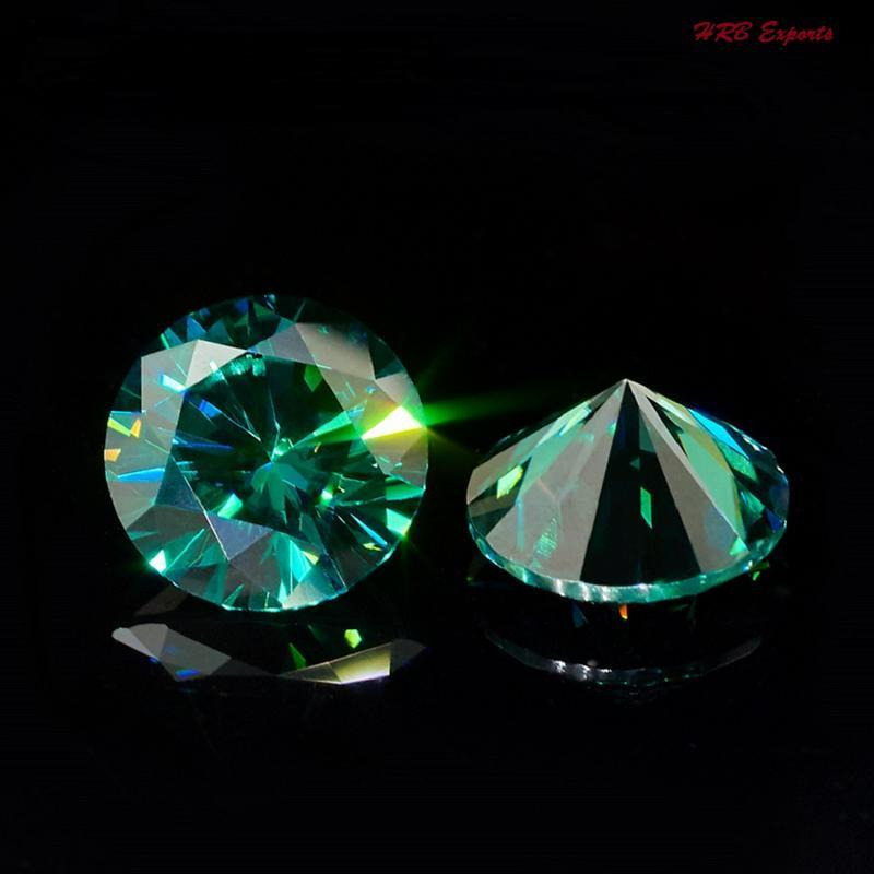 Siround Cut Loose Perfect Genuine Moissanite Use 4 Pendant/Ring Light Green