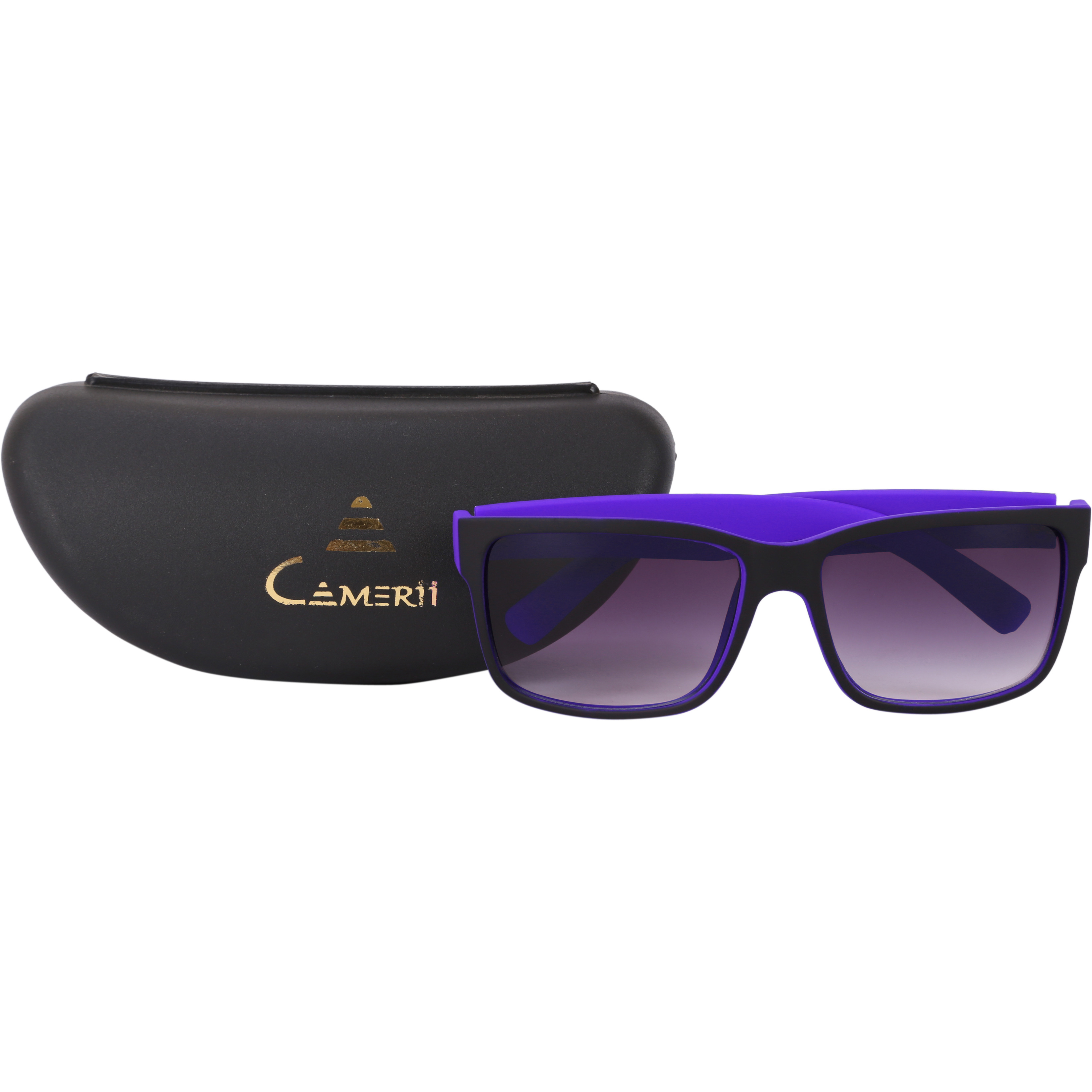 Camerii Metfinish Black  Wayfarer Sunglasses