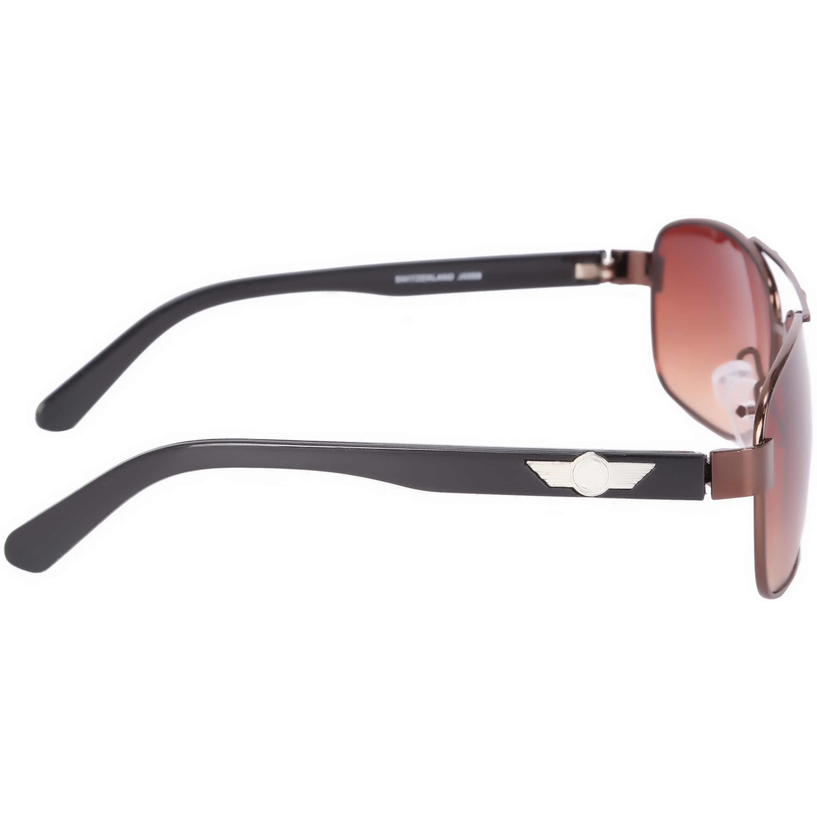 Camerii Glossy Brown  Rectangle Sunglasses