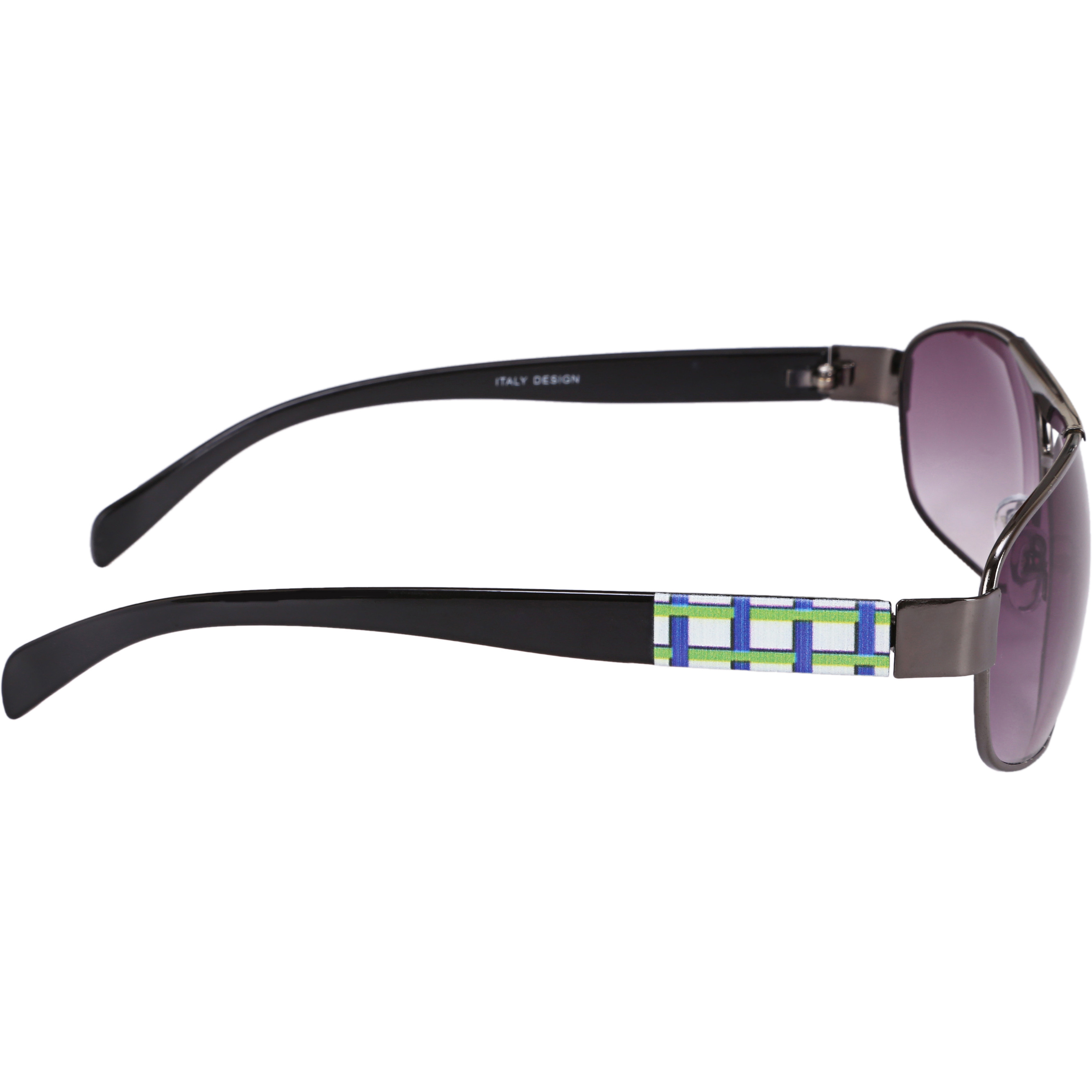 Camerii Glossy Black  Oval Sunglasses