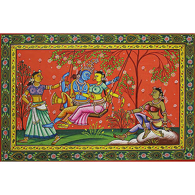Radha Swings with Krishna