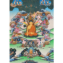 Temptation of Buddha by Mara (Tibetan Buddhist)