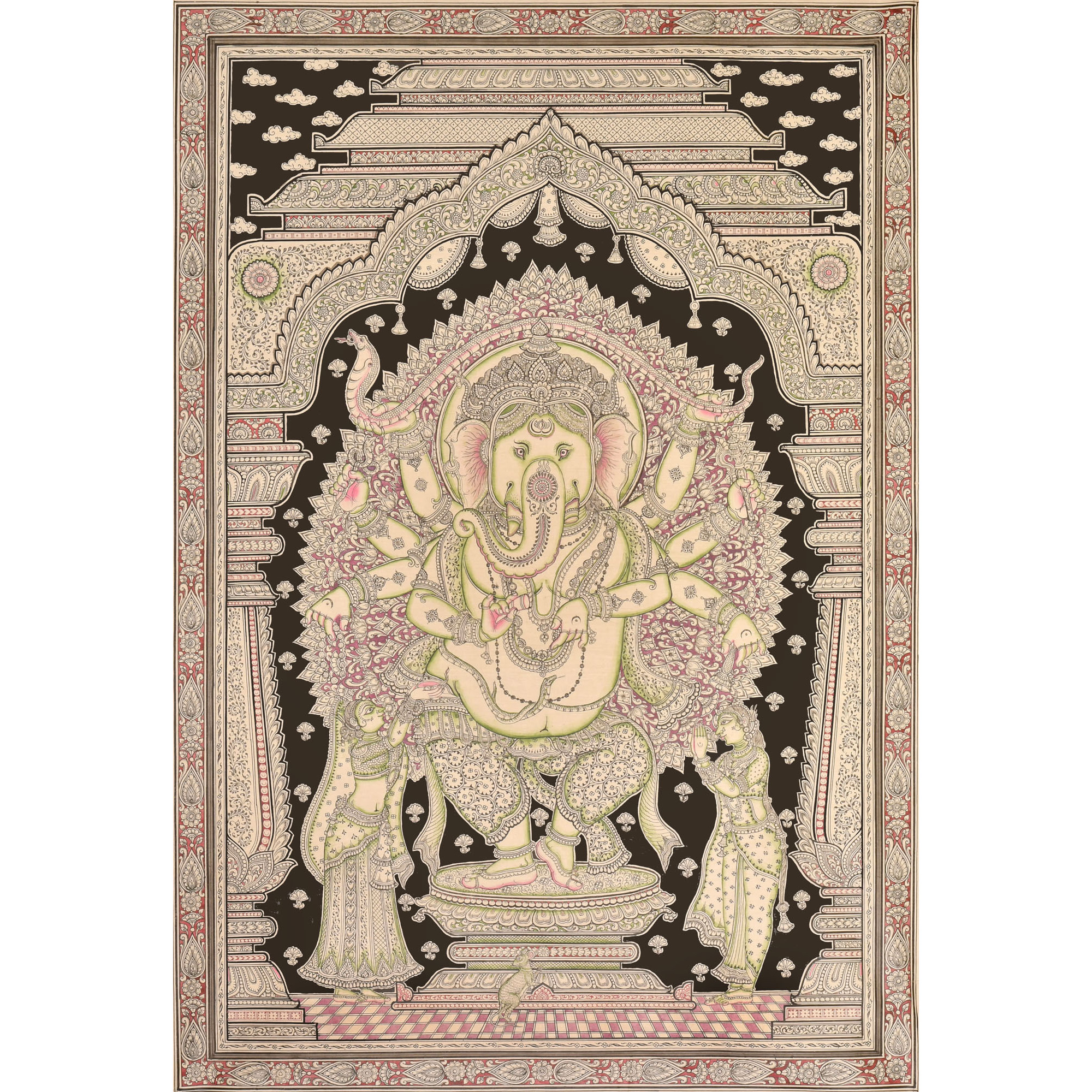 Superfine, Highly Detailed Image of Dancing Ganesha