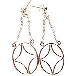 Sterling Hoop Post Earrings