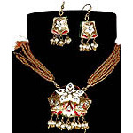 Meenakari Star-Spangled Necklace with Earrings