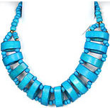 Turquoise-Colored Beaded Necklace