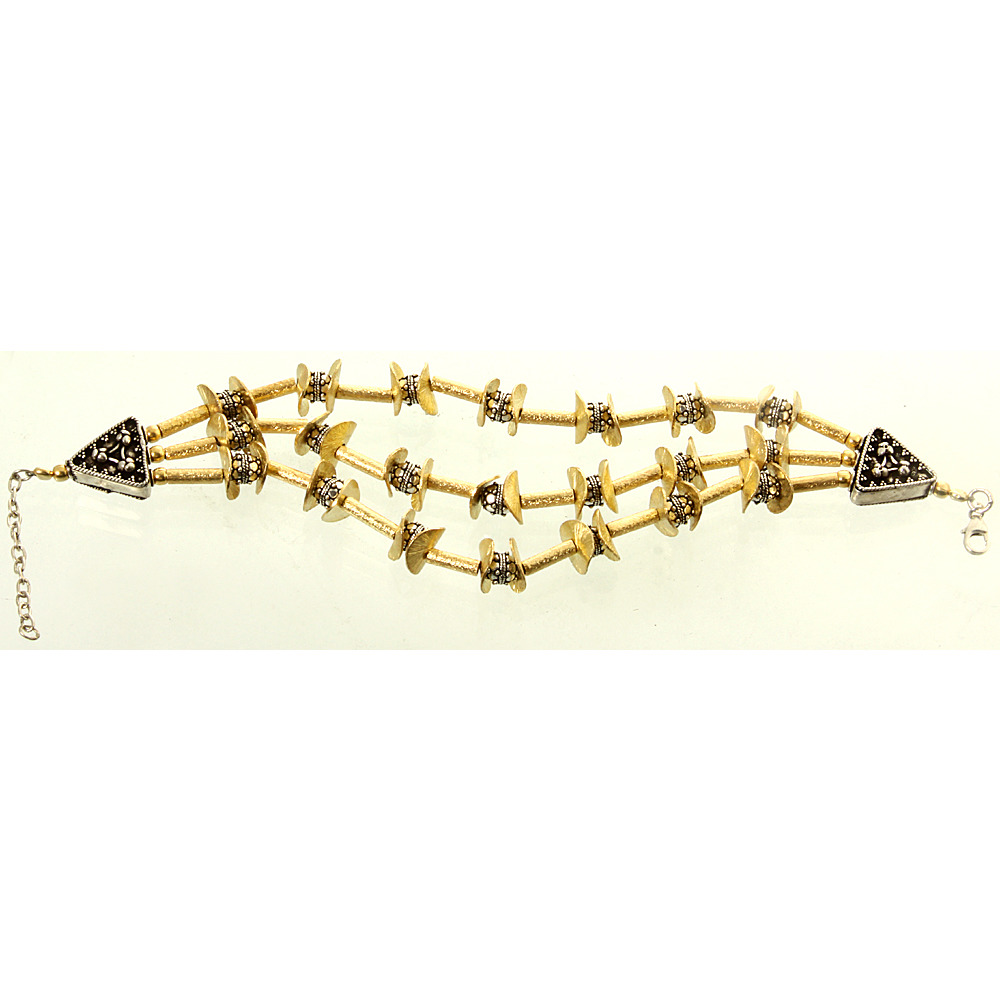 Sterling Gold Plated Three-Strand Bracelet
