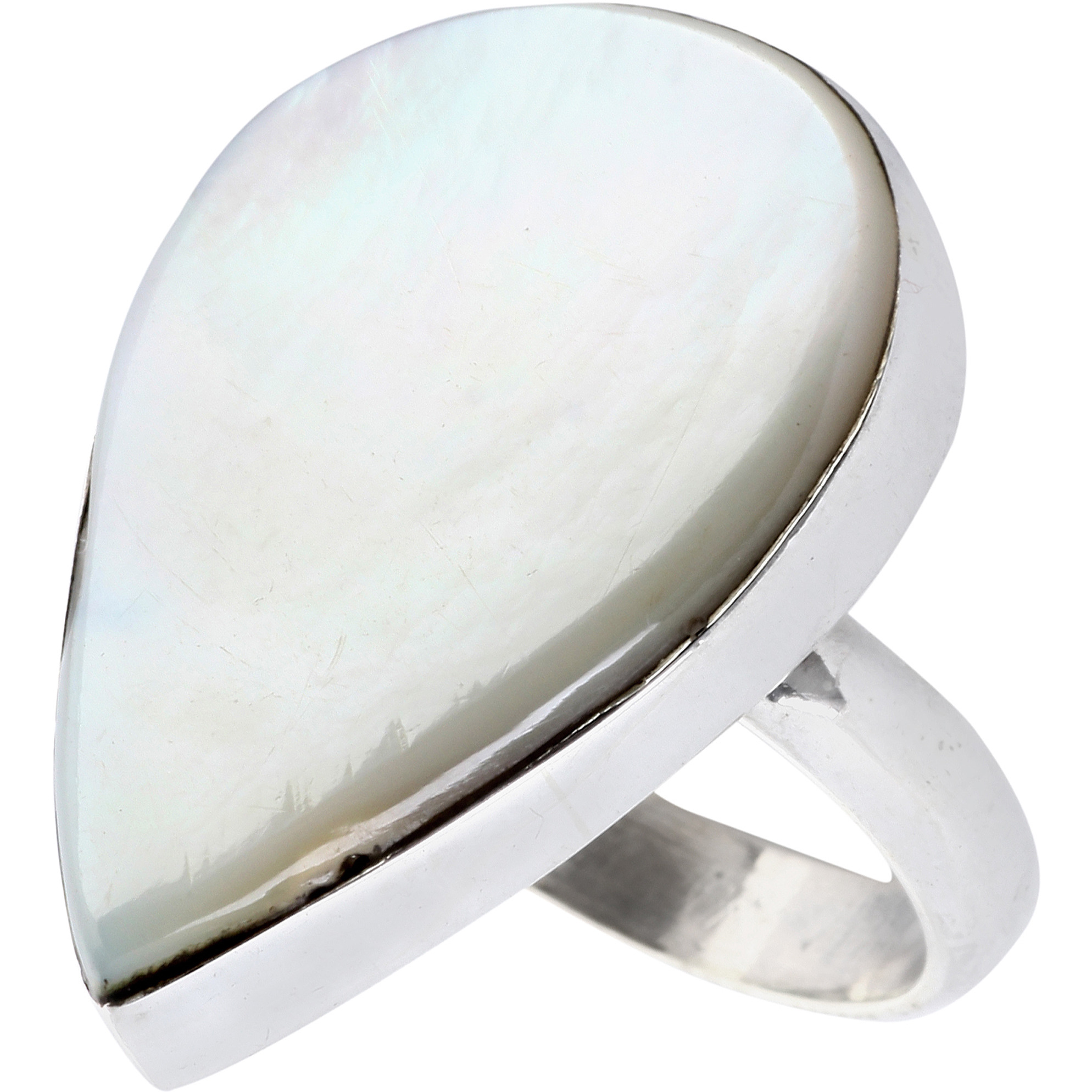 MOP (Shell) Pear-Shaped Ring
