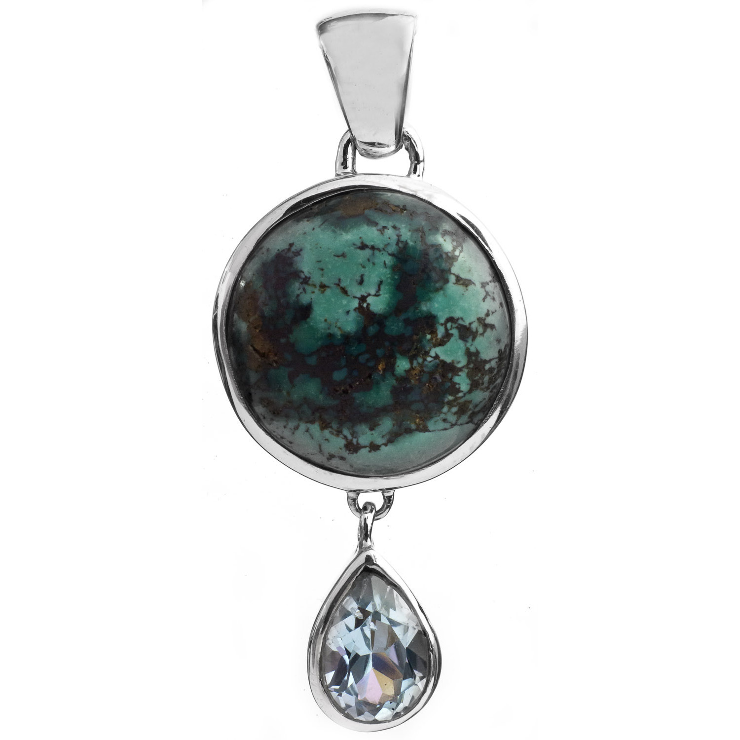 Spider's Web Turquoise Pendant with BT