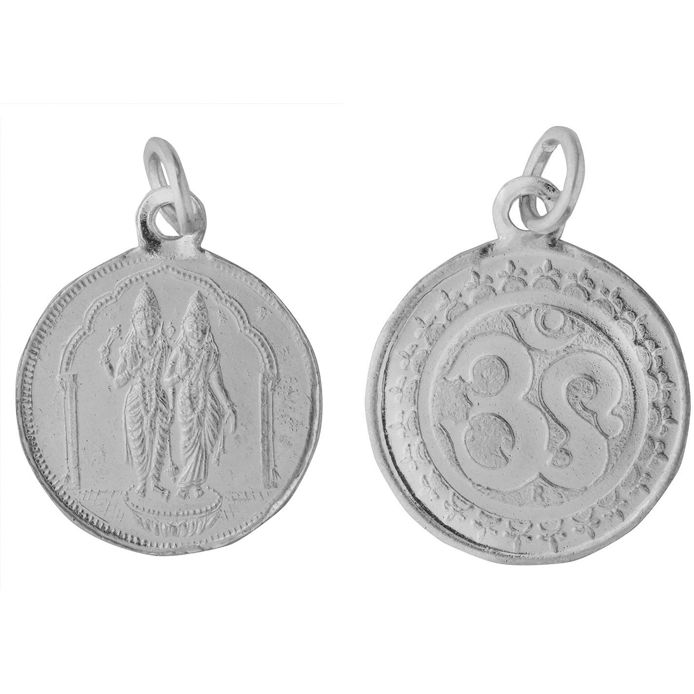 Vishnu-Lakshmi Pendant with OM on Reverse (Two Sided Pendant)