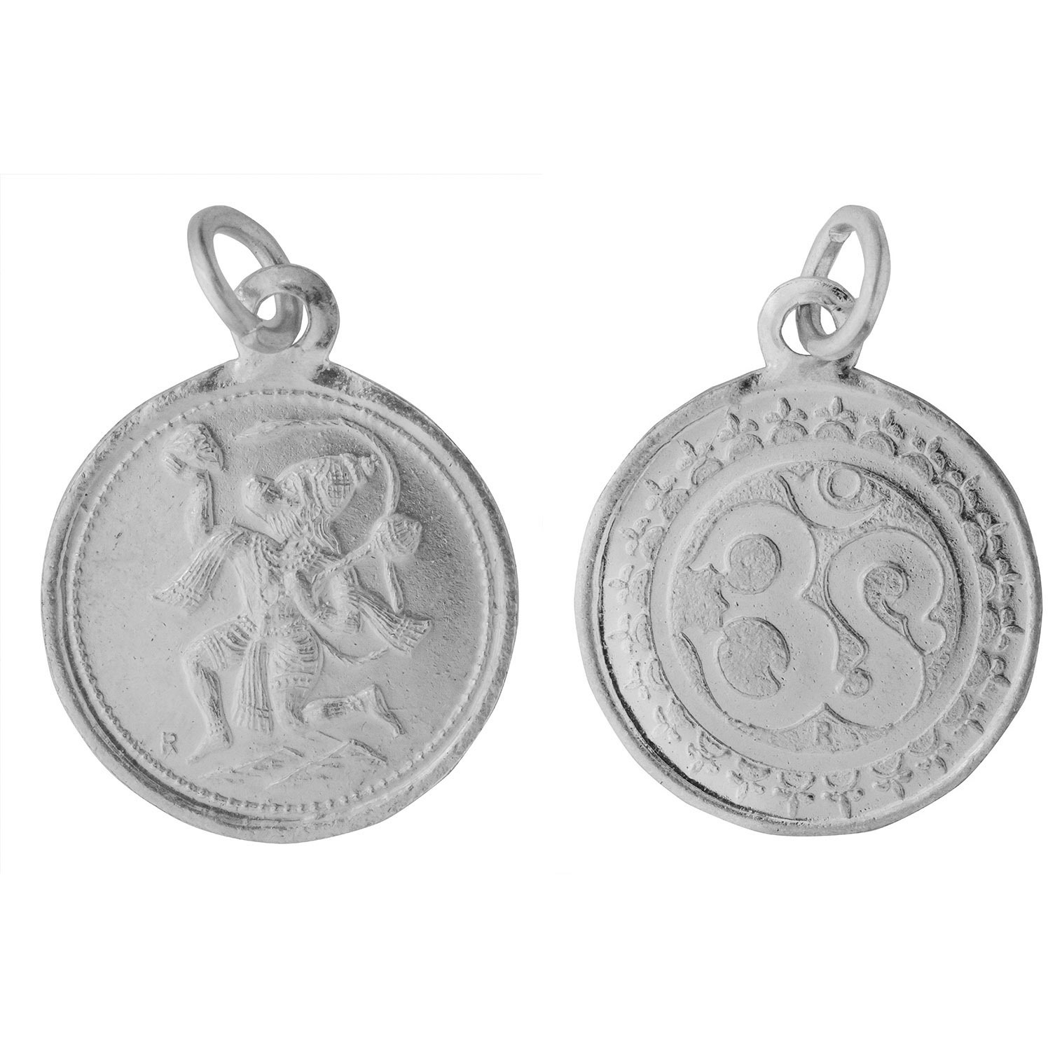 Lord Hanuman Pendant with OM on Reverse (Two Sided Pendant)