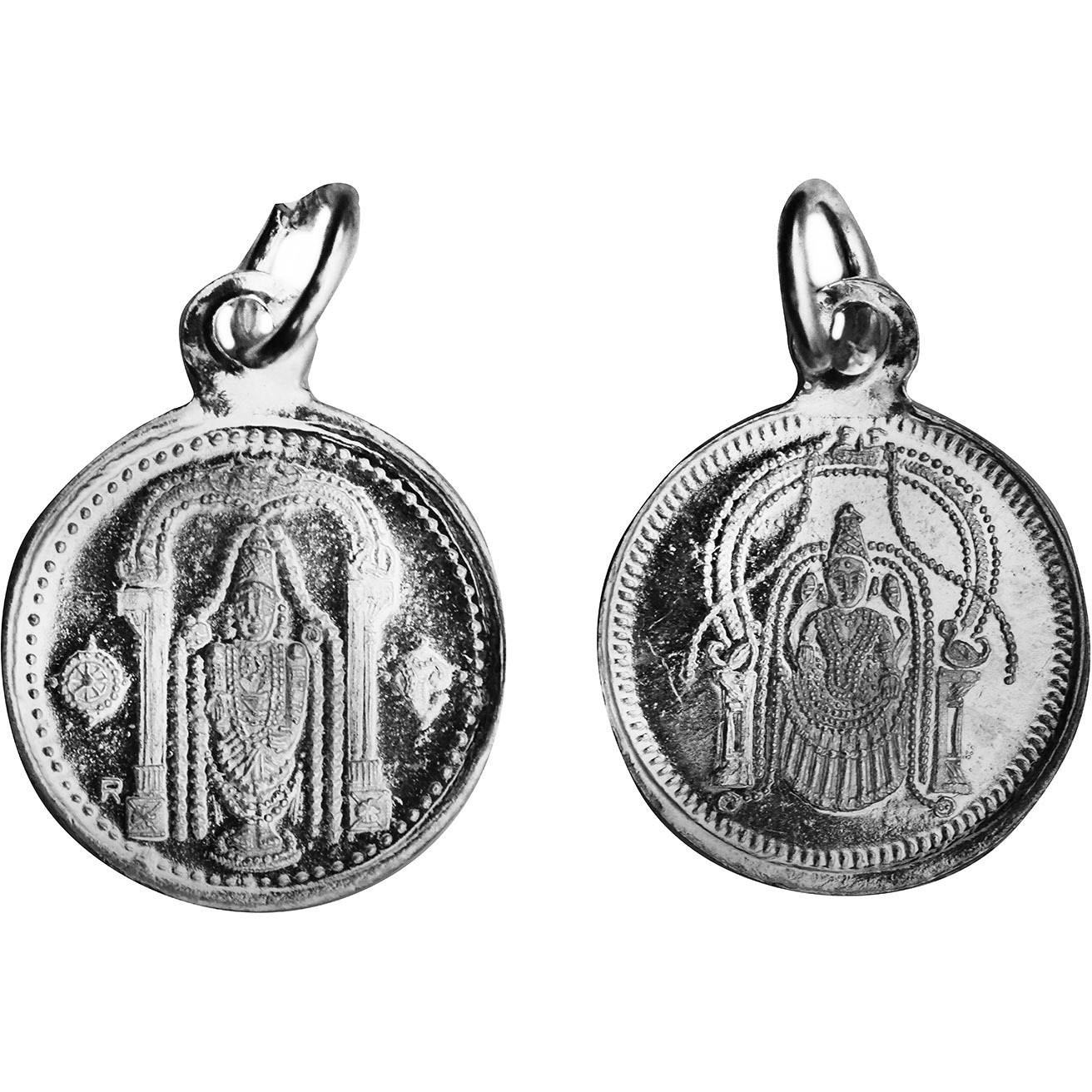Perumal Pendant with Sri Perundevi Thayar on Reverse (Two Sided Pendant)