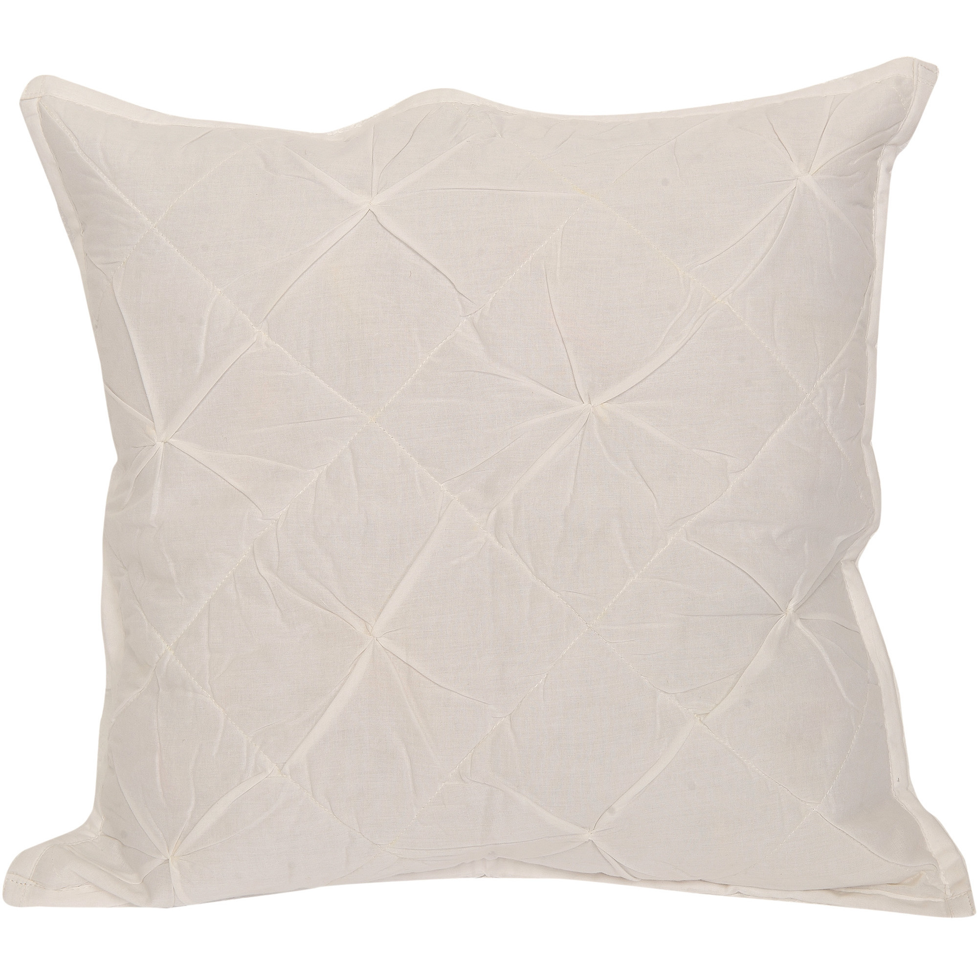 Snow-White Cushion Cover with Thread Work