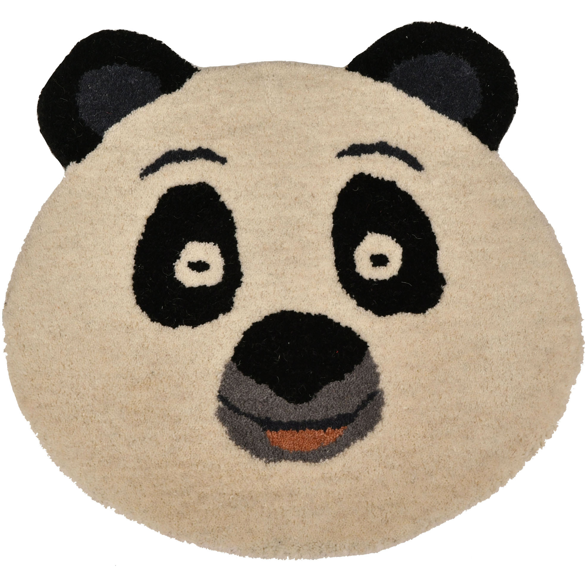 Ivory and Black Little-Panda Mat from Mirzapur