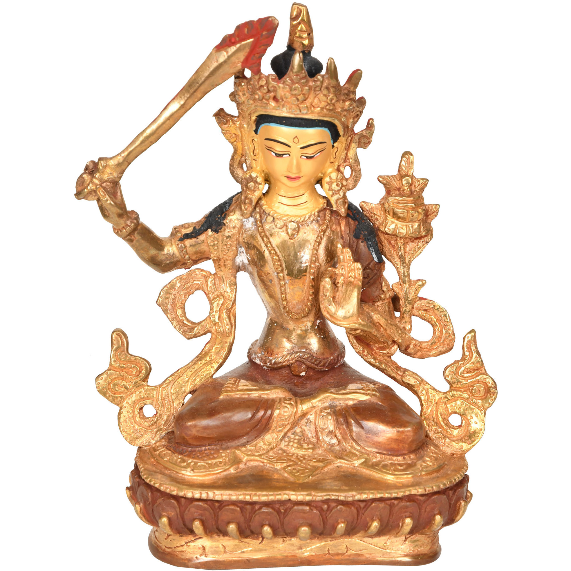 Made in Nepal Manjushri - Tibetan Buddhist Deity