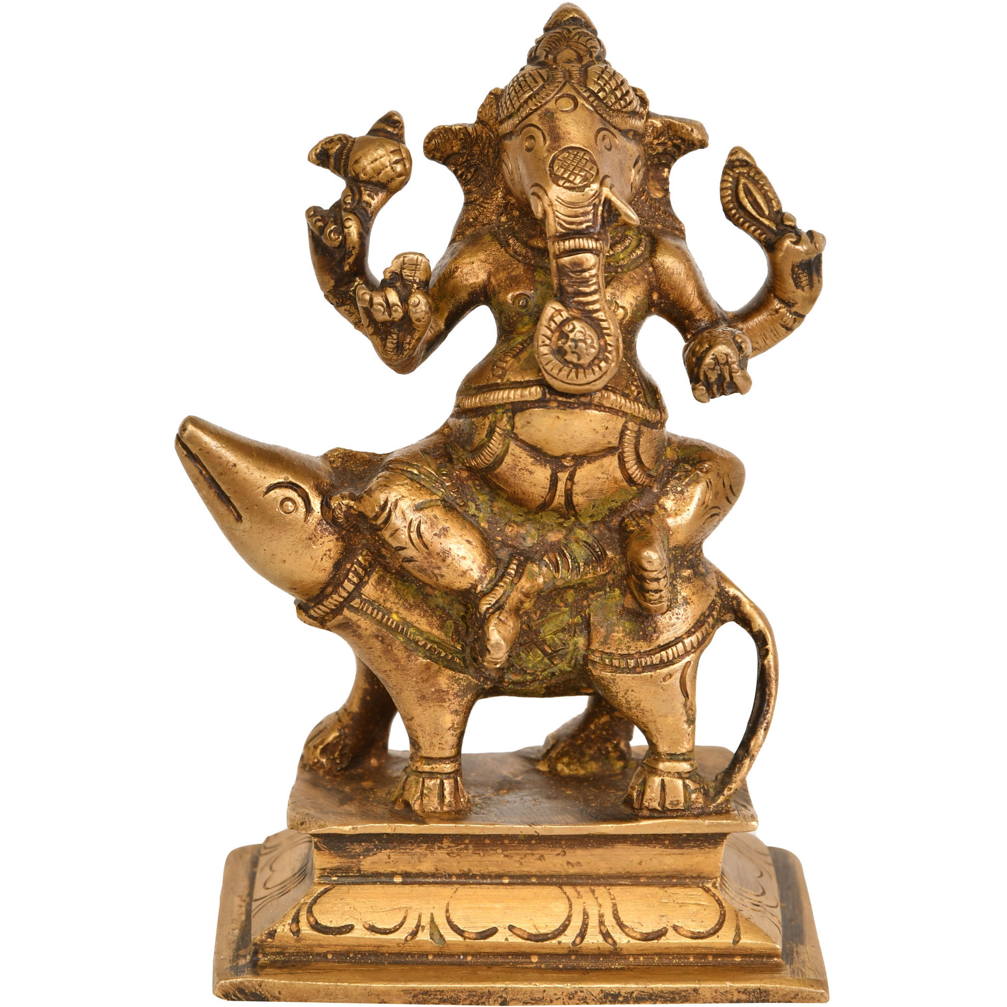 Lord Ganesha Seated on Rat
