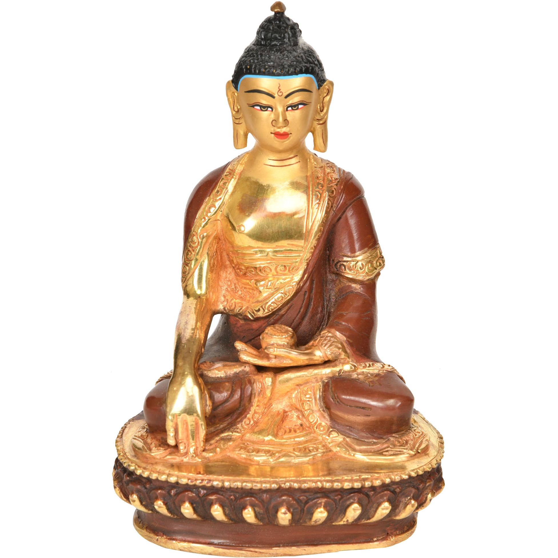 Made in Nepal Lord Buddha in Earth Witness Gesture - Tibetan Buddhist Deity