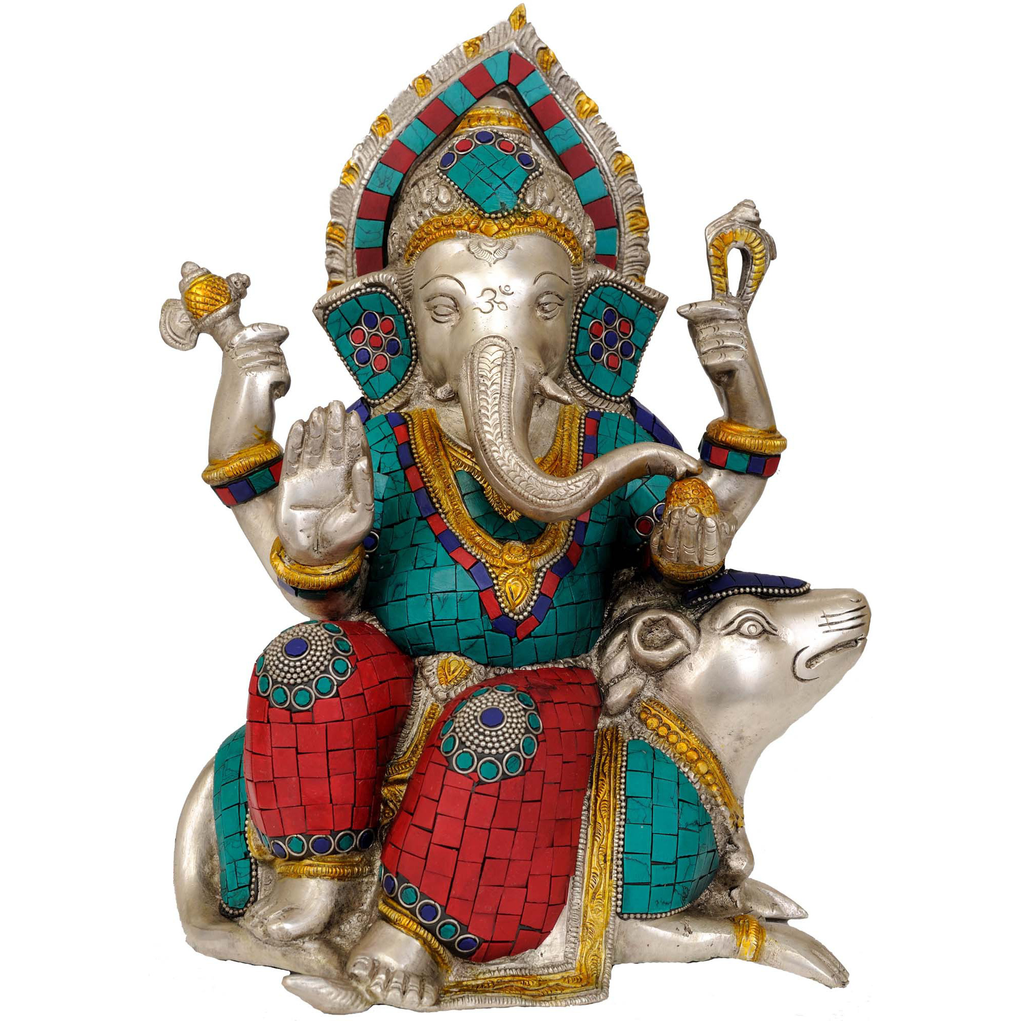 Lord Ganesha Seated on Musaka (Rat)