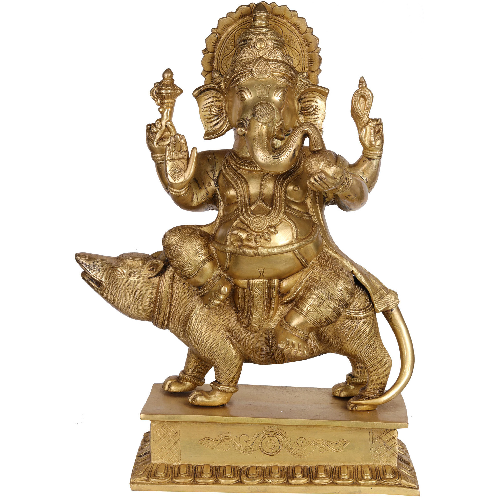 Lord Ganesha Seated on a Rat