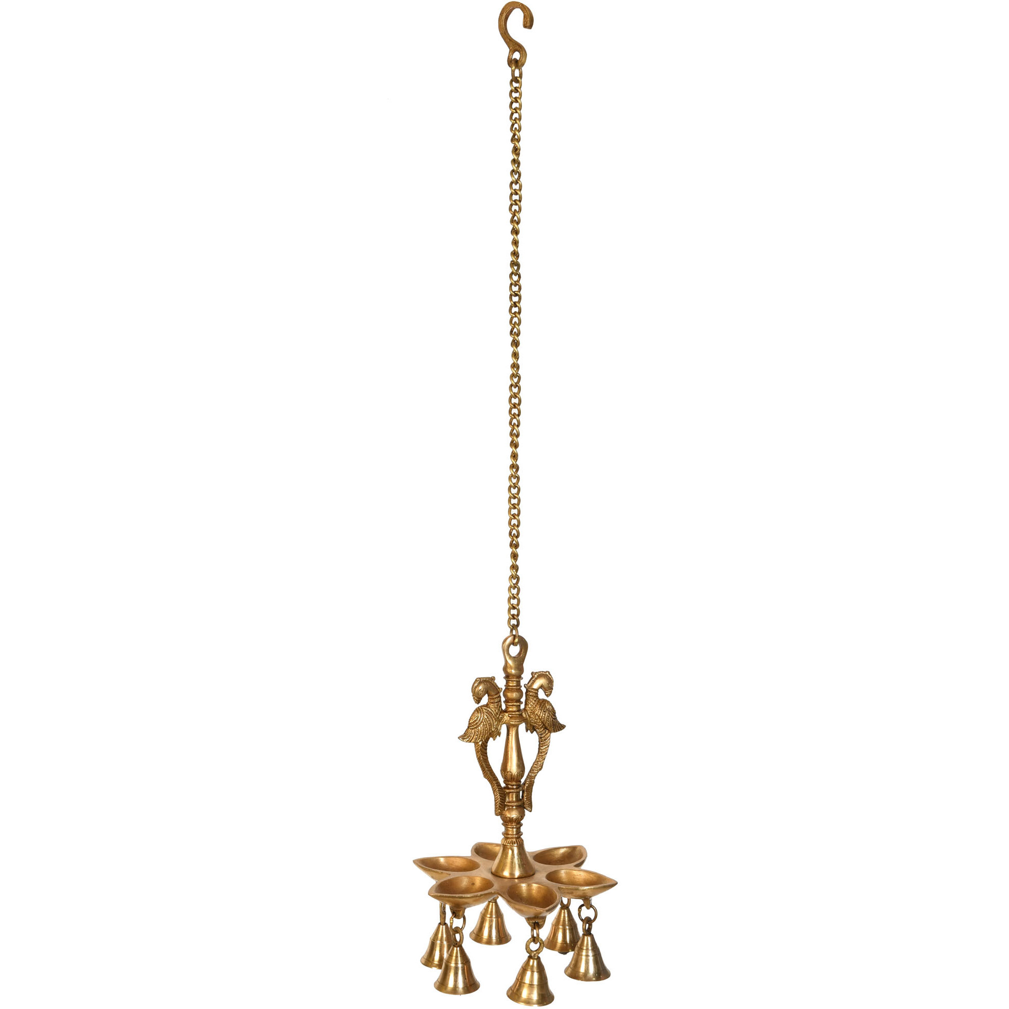 Parrot Hanging Lamp with Bells