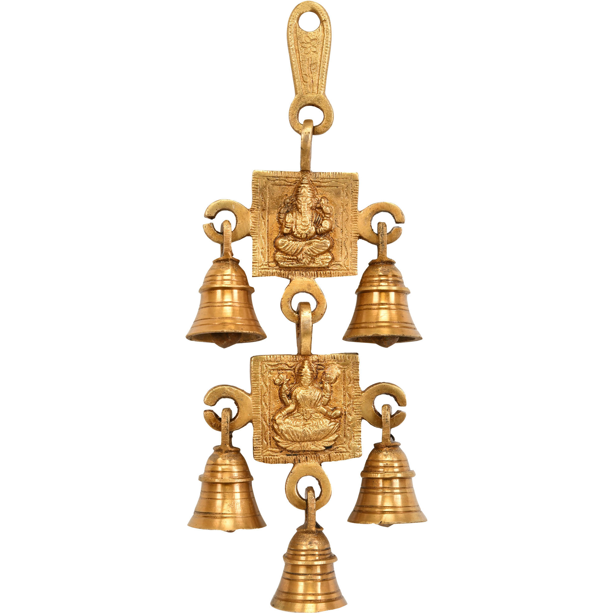 Lord Ganesha and Lakshmi Wall Hanging Bells