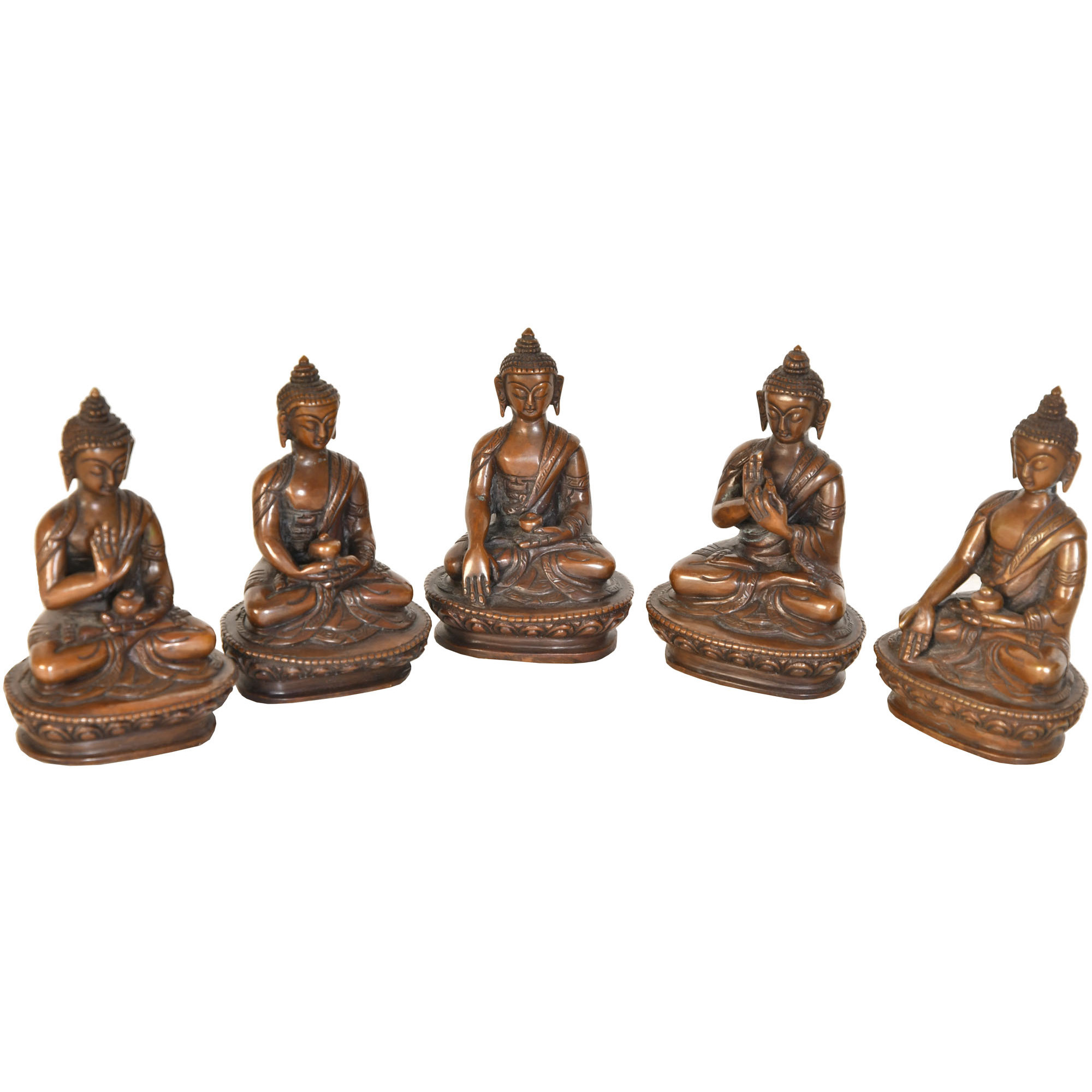 Tibetan Buddhist Five Dhyani Buddhas (Made in Nepal)