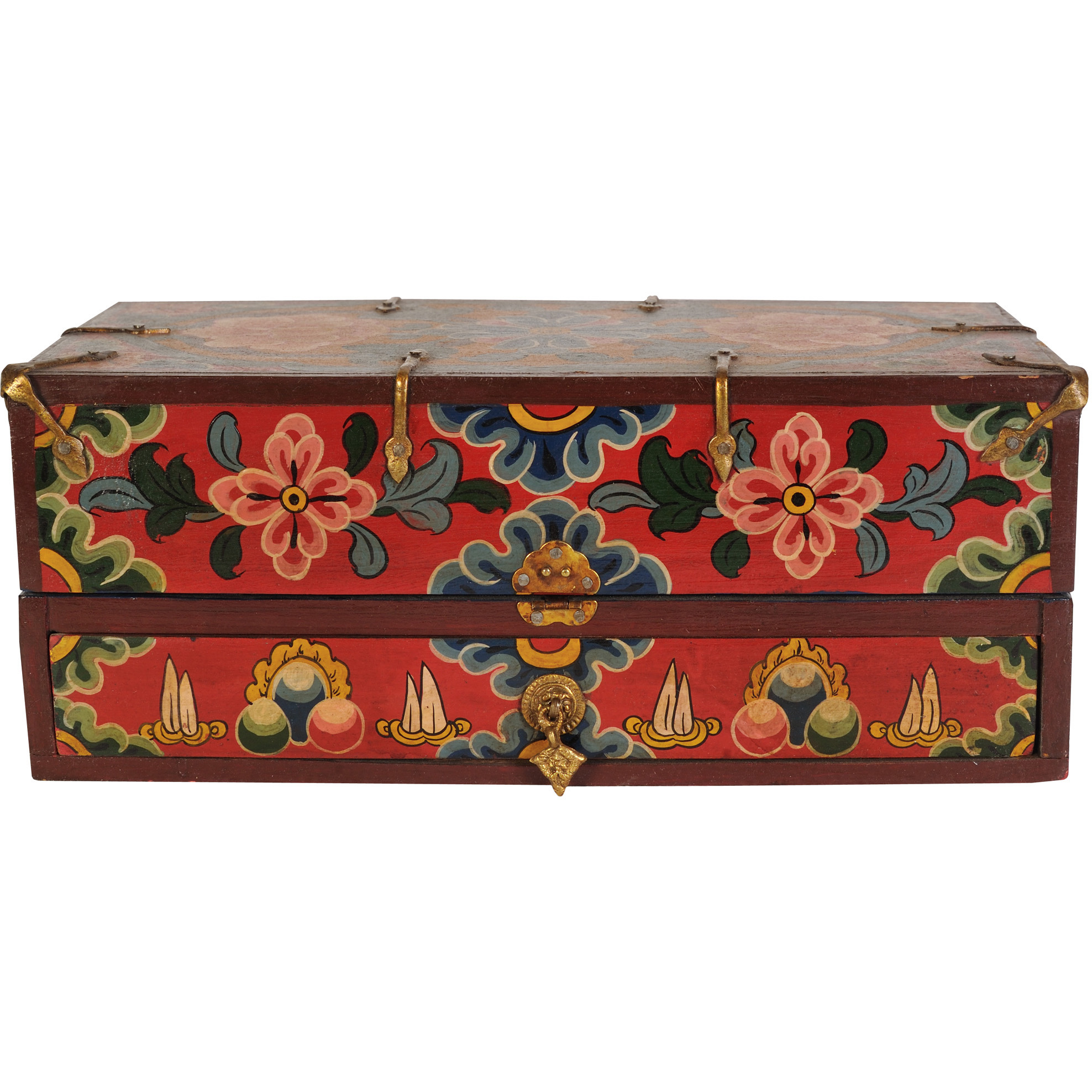 Tibetan Buddhist Ritual Box For Monastery