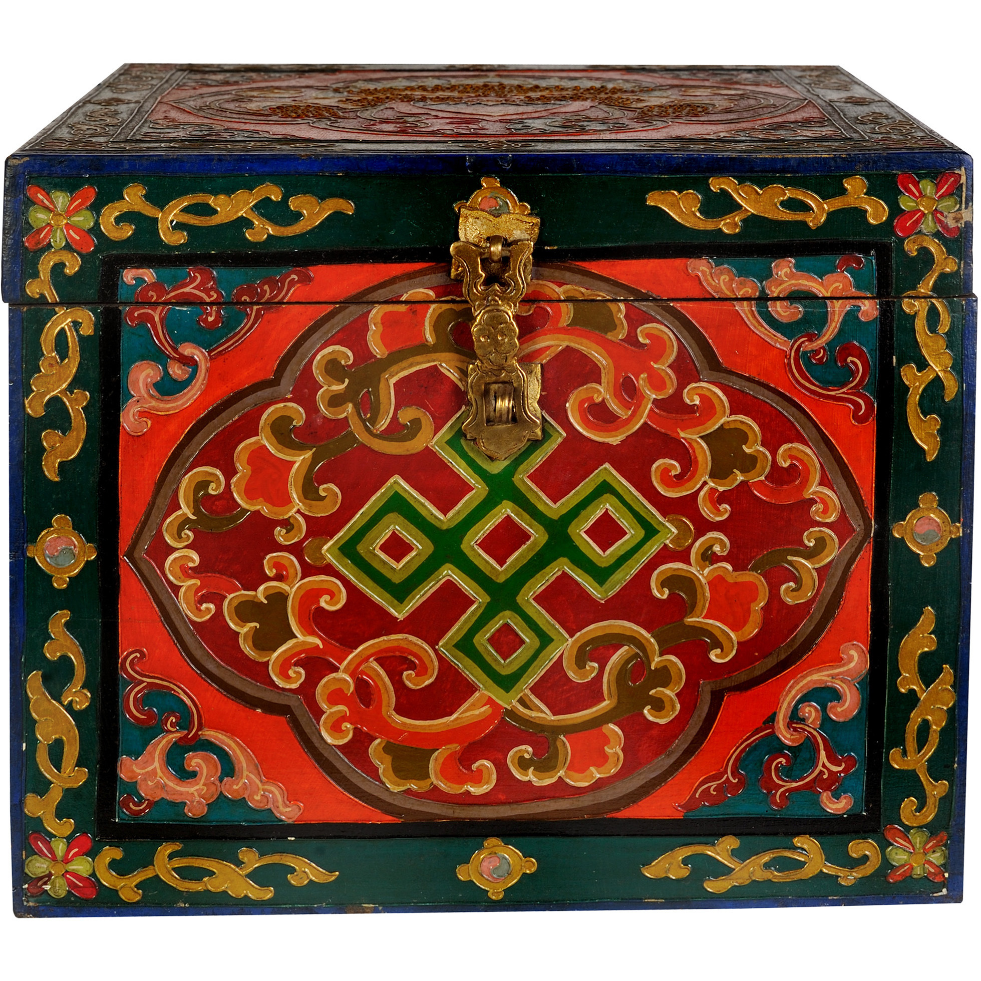 Set of Four Buddhist Monastery Boxes