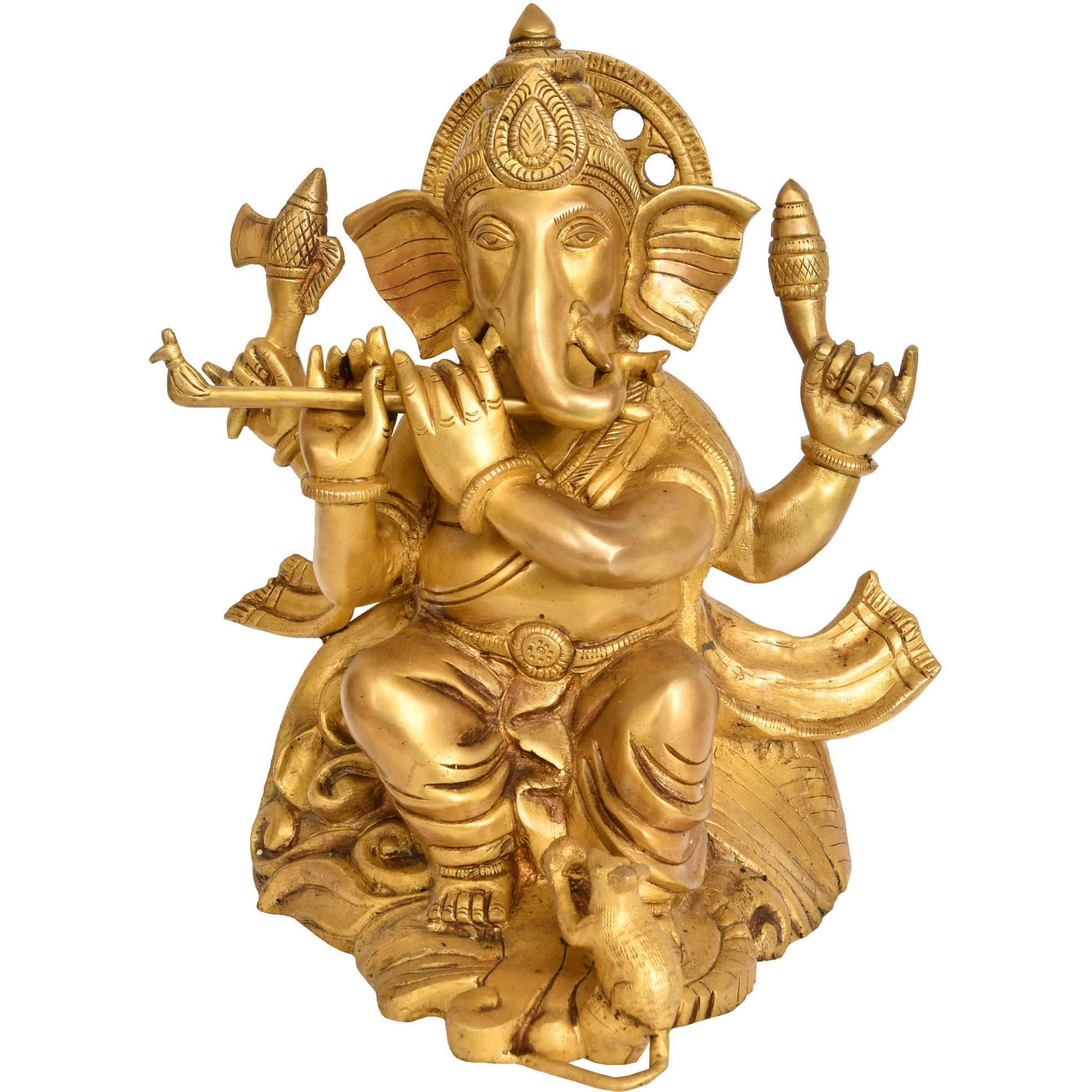 Lord Ganesha Playing Flute
