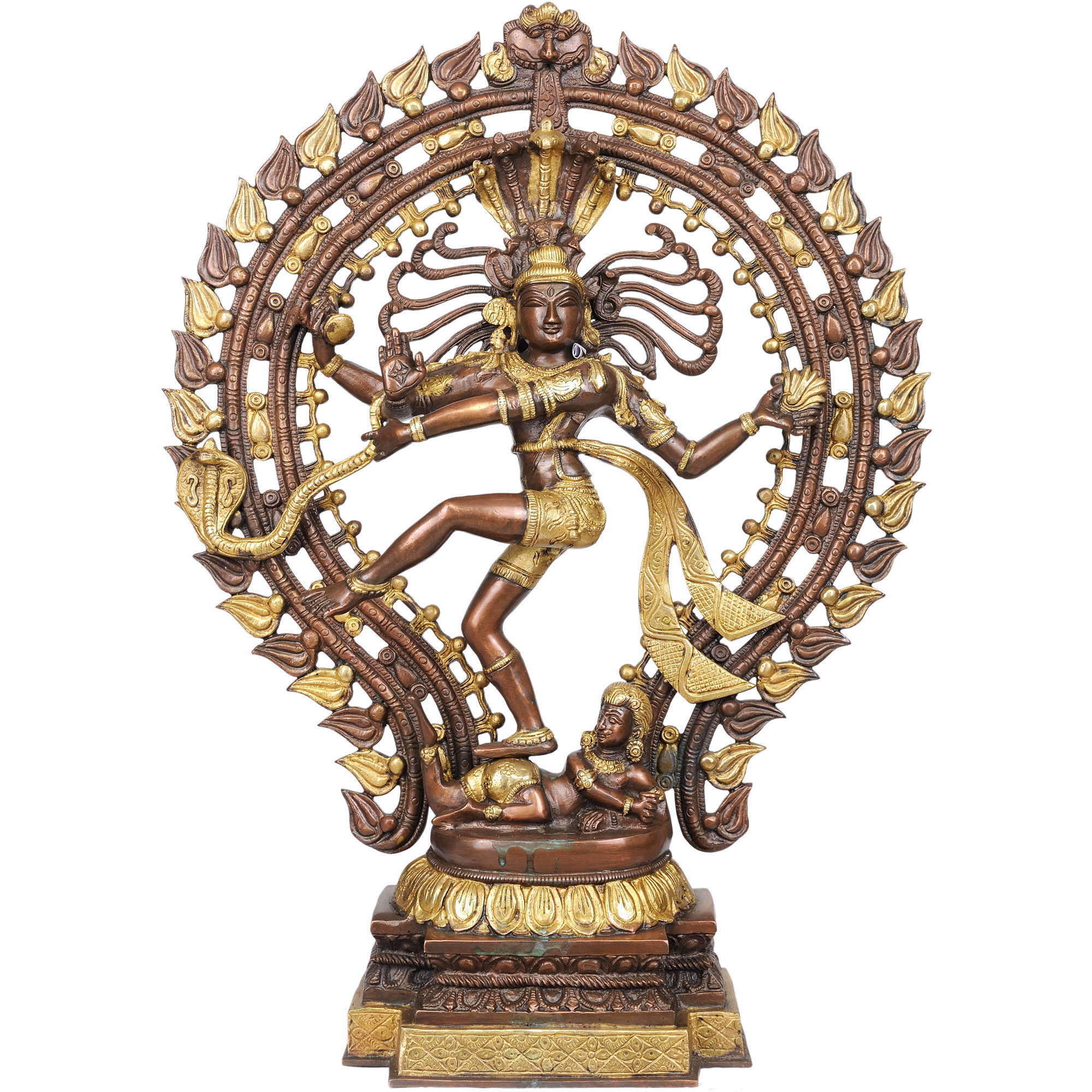 Nataraja in Brown and Golden Hues
