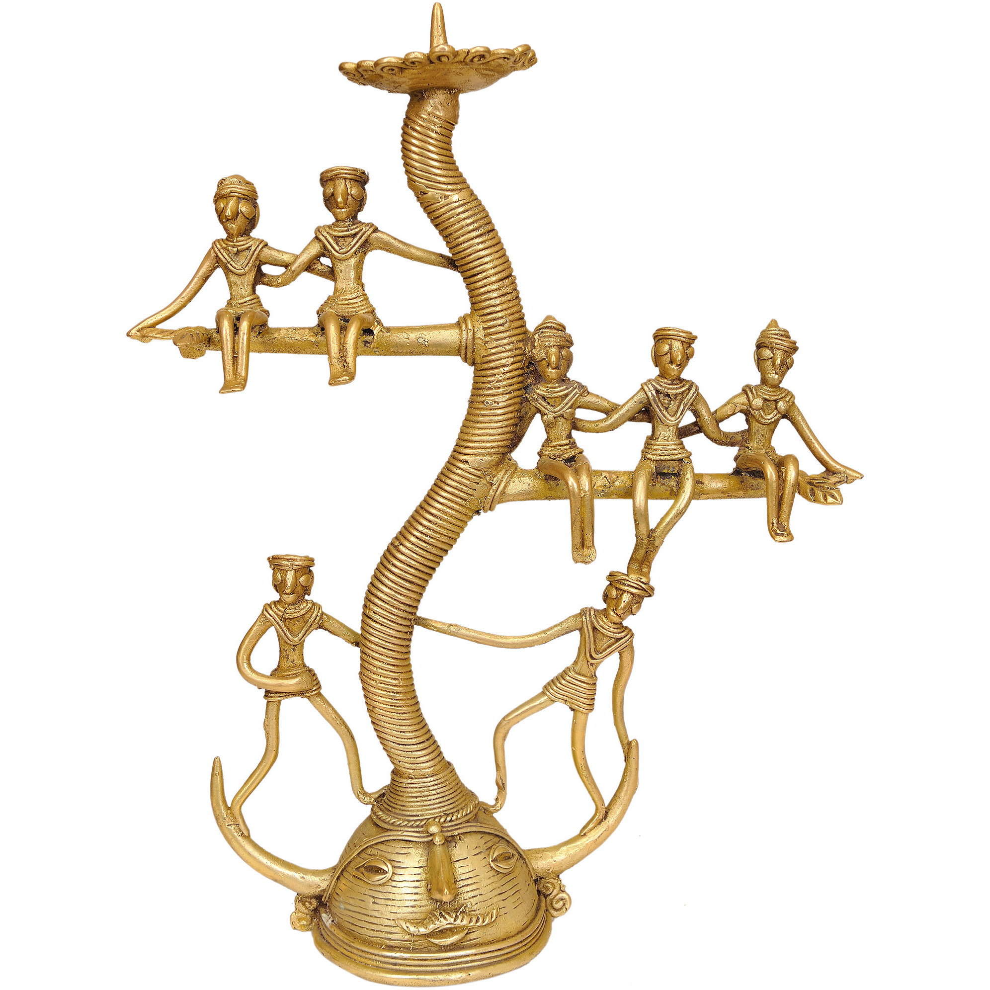 Tree of Life Candle Stand (Tribal Statue from Bastar)