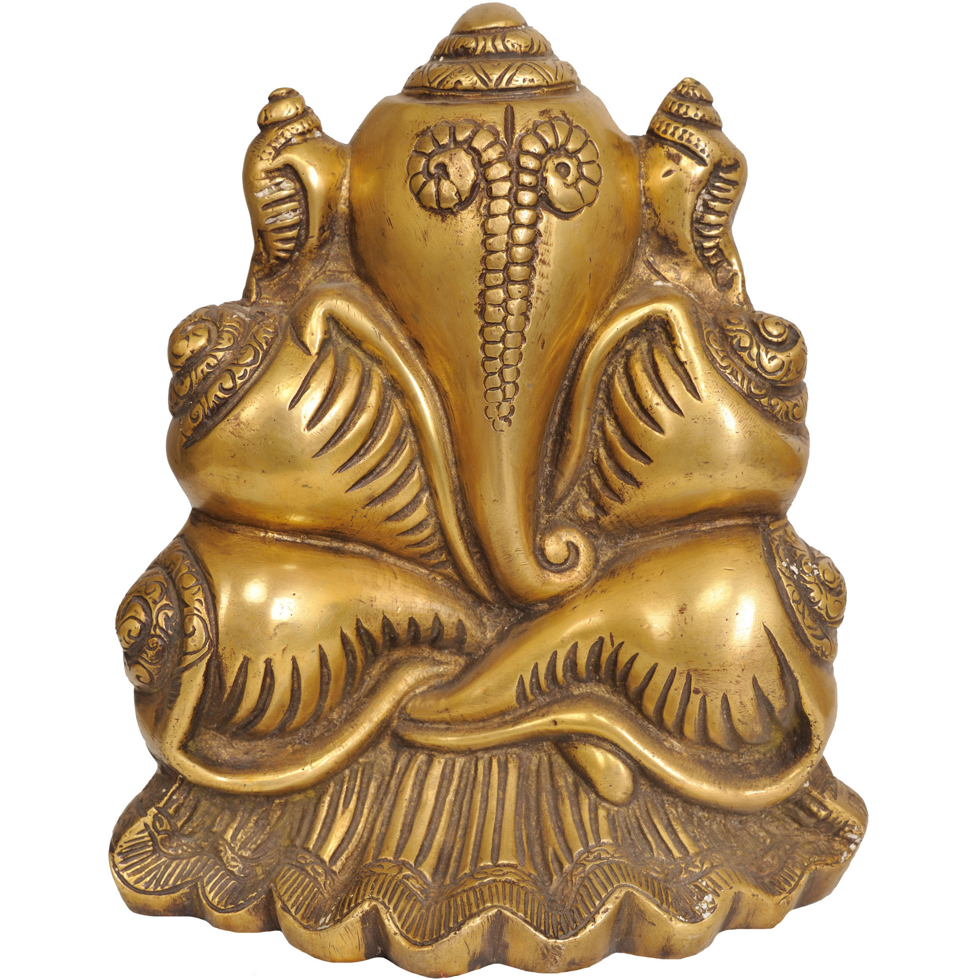 Lord Ganesha Made of Conches