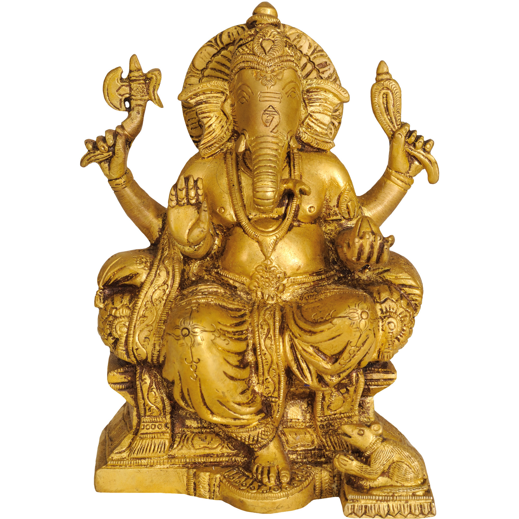 Lord Ganesha Seated on Throne