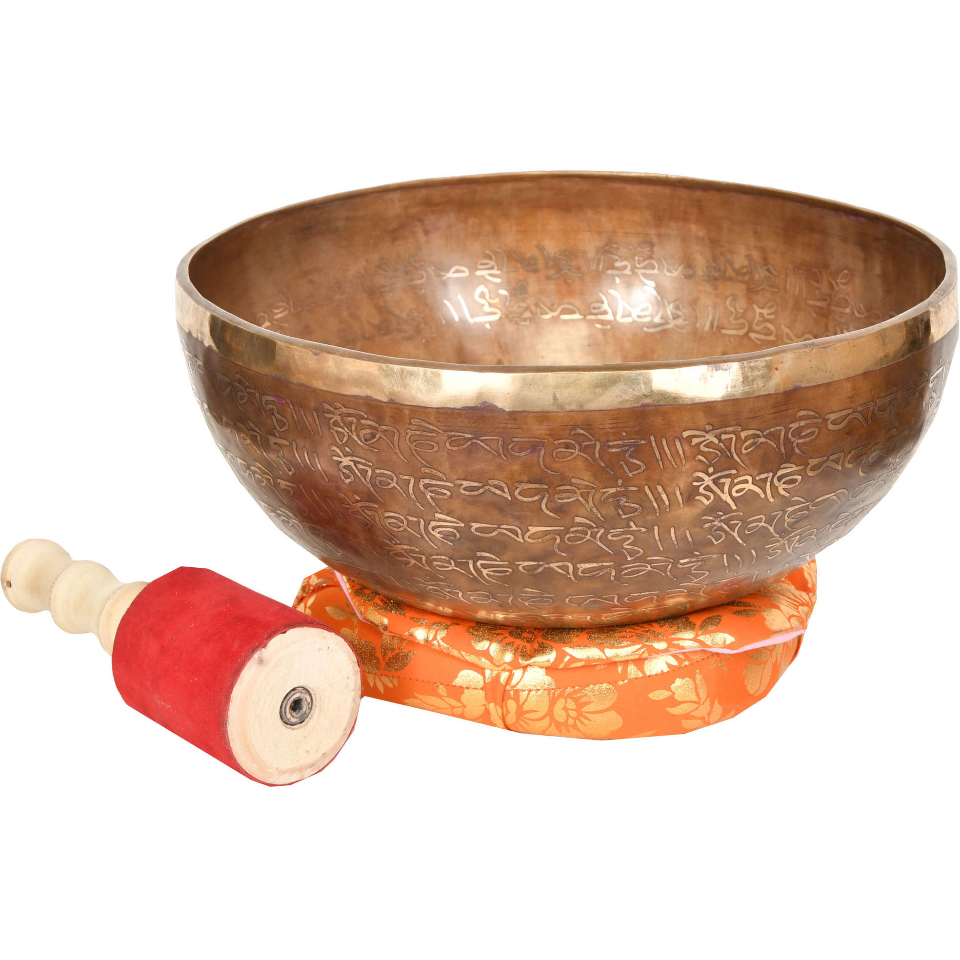 Tibetan Singing Bowl with Syllable Mantra
