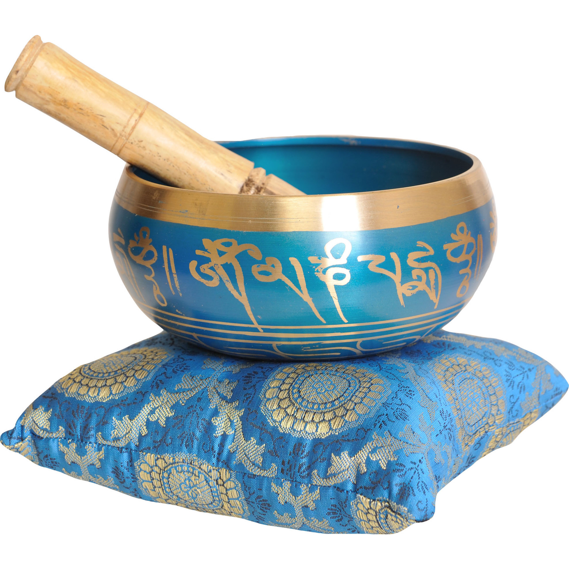Tibetan Buddhist Singing Bowl with Syllable Mantra