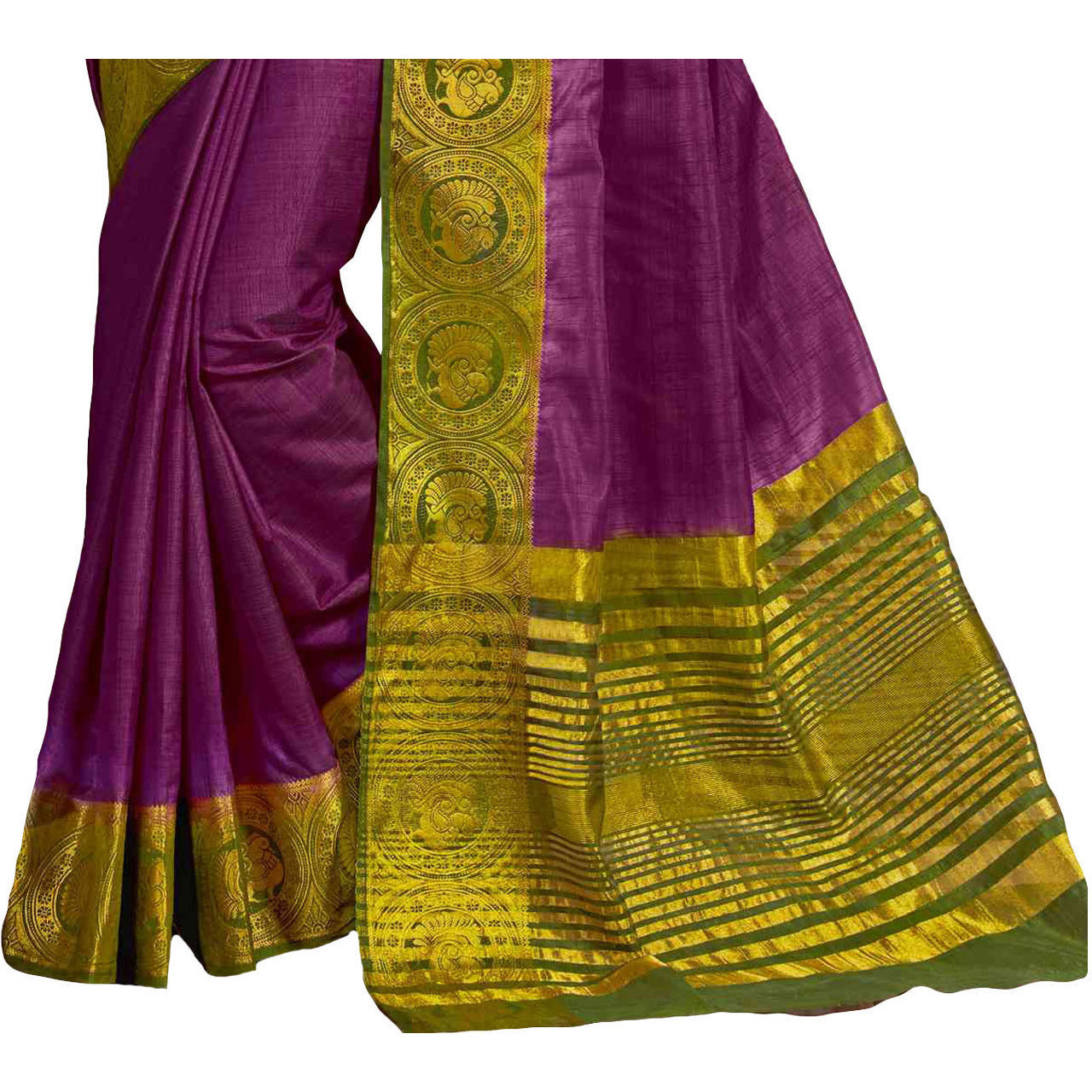 Appealing  Violet Tussar Silk Traditional Saree