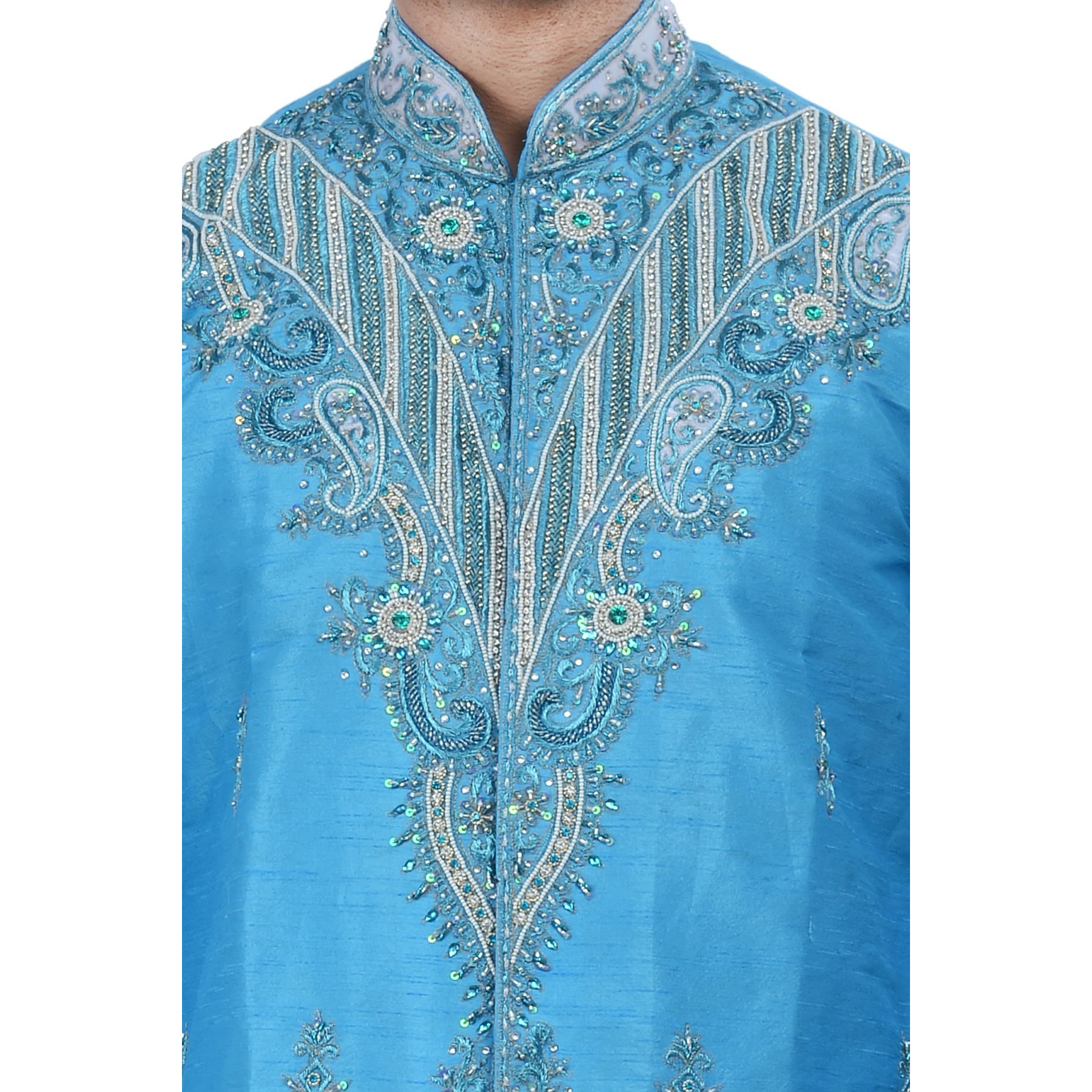 Indian Bollywood Design Kurta Sherwani For Men 2pc Suit