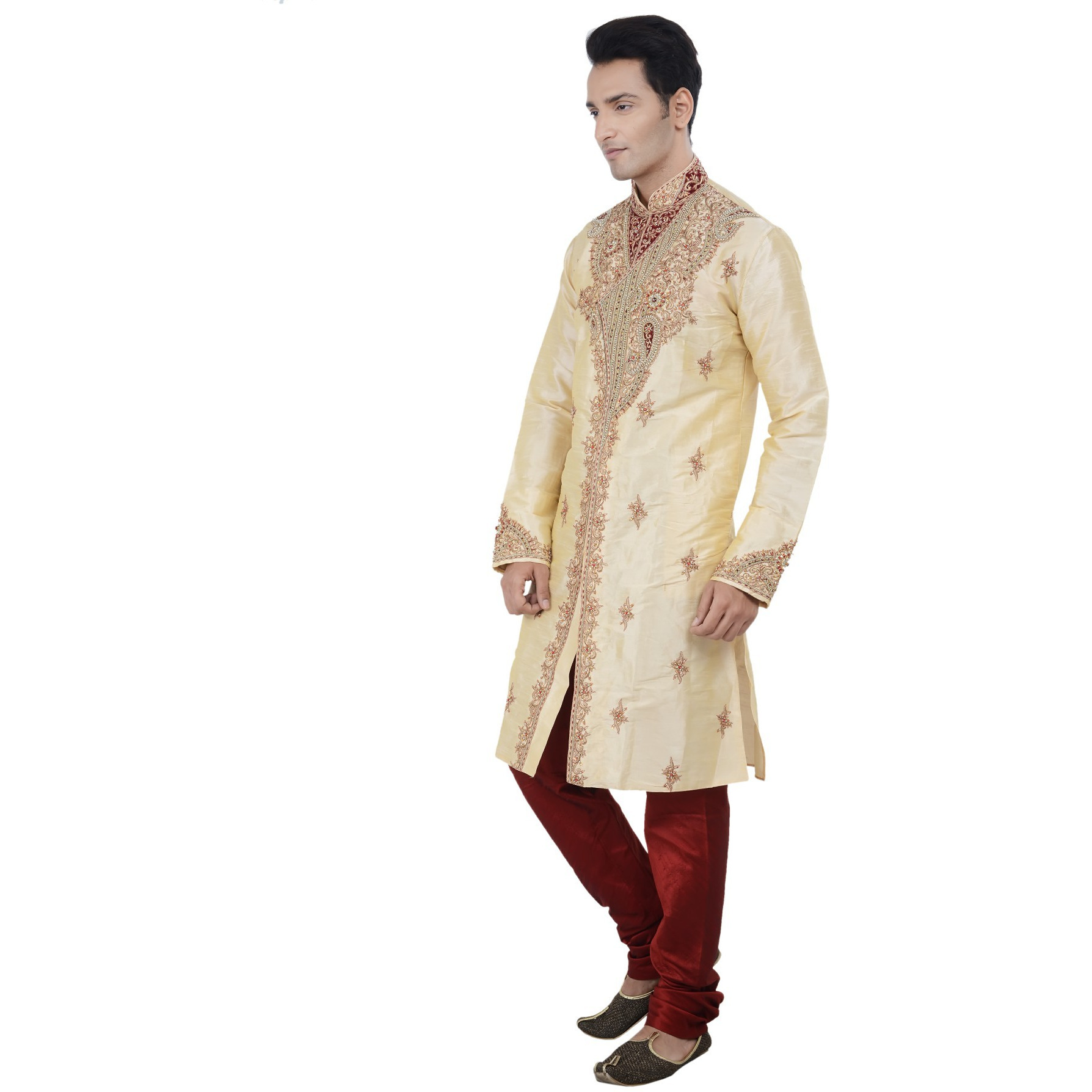 Indian Bollywood Designer Kurta Sherwani For Men 2pc Suit