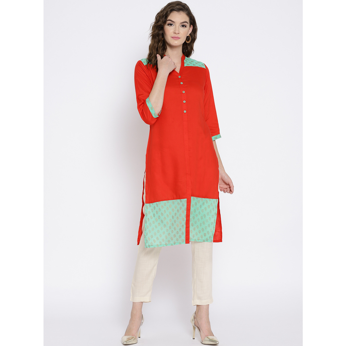 Ayaany Solid cotton Kurta (Size:S)