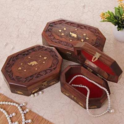Trumpet Treasure Wooden Jewelry Box