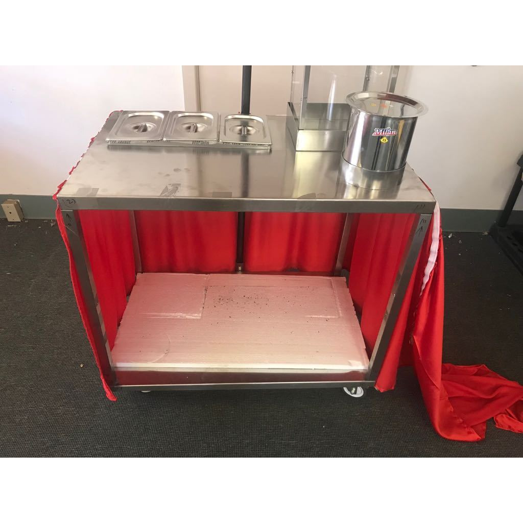 Pani Puri Cart / Counter for Catering & Restaurants on Wheel