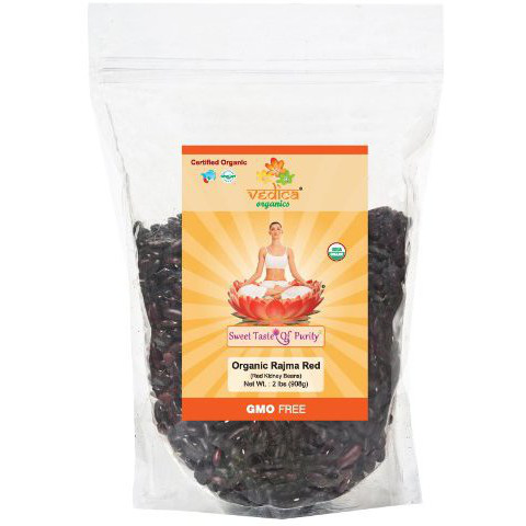 Organic Rajma Red (Red Kidney Beans) (2 Lbs)