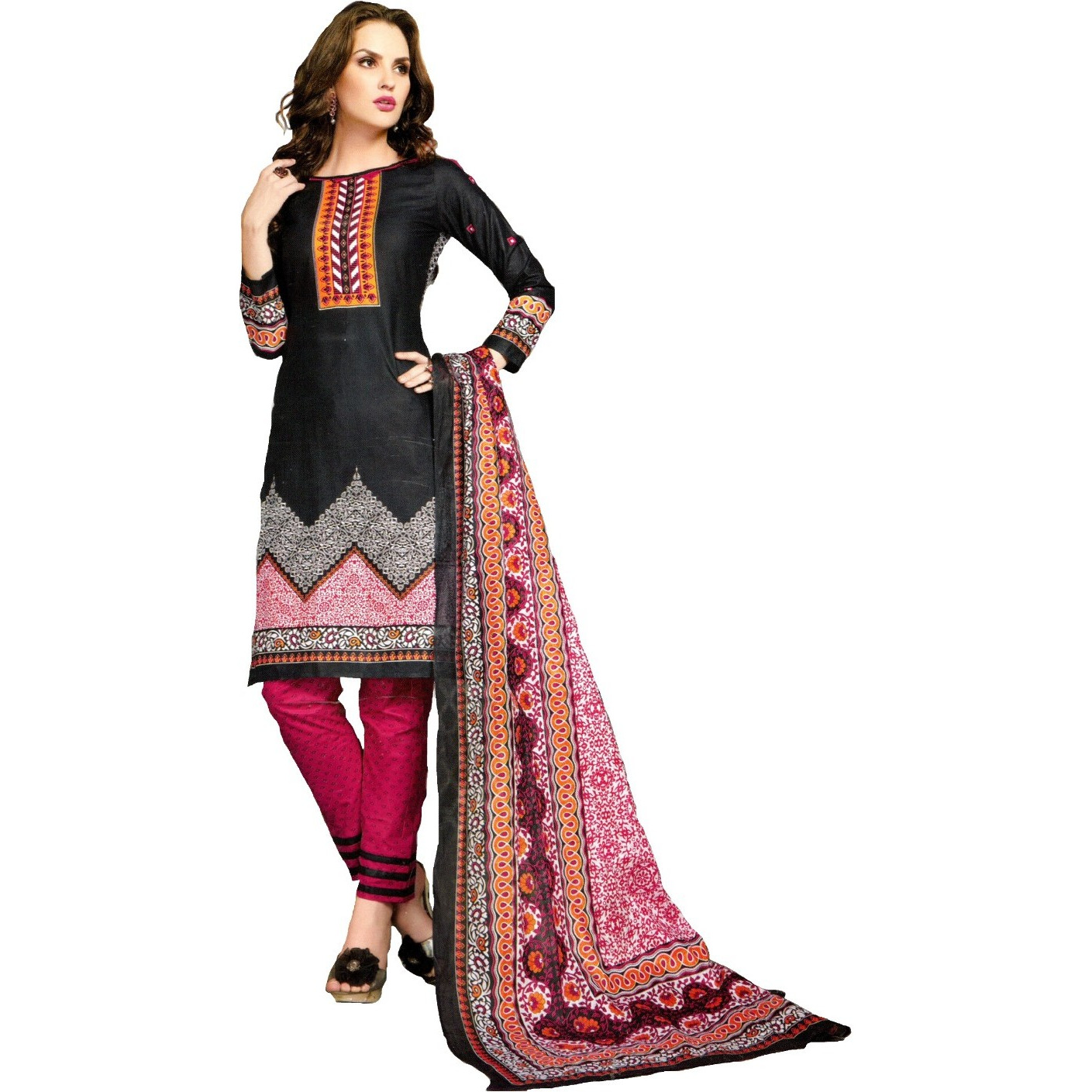 MAHATI lawn cotton salwar suits with cotton dupatta (Size:XL)