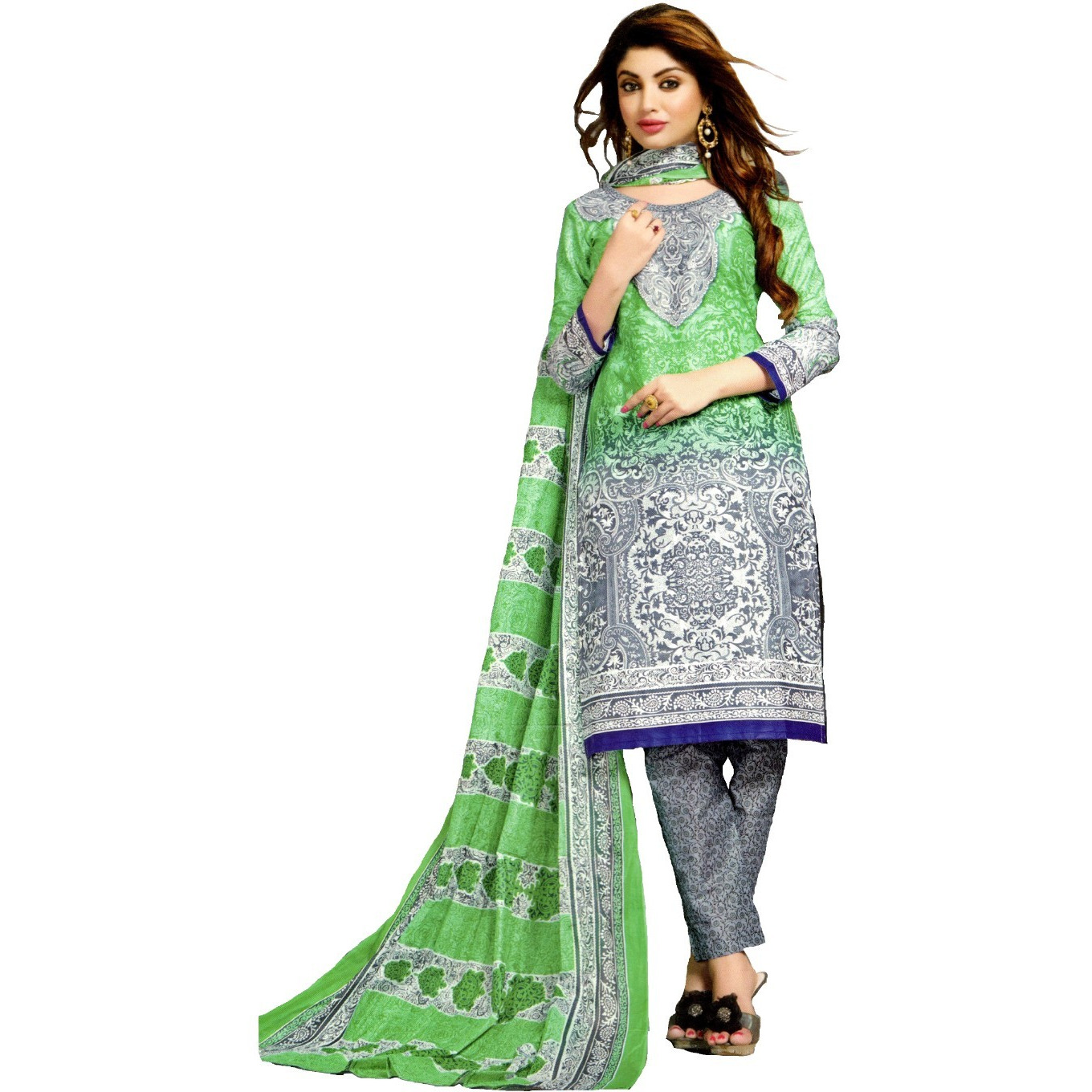MAHATI lawn cotton salwar suits with cotton dupatta (Size:XXL)